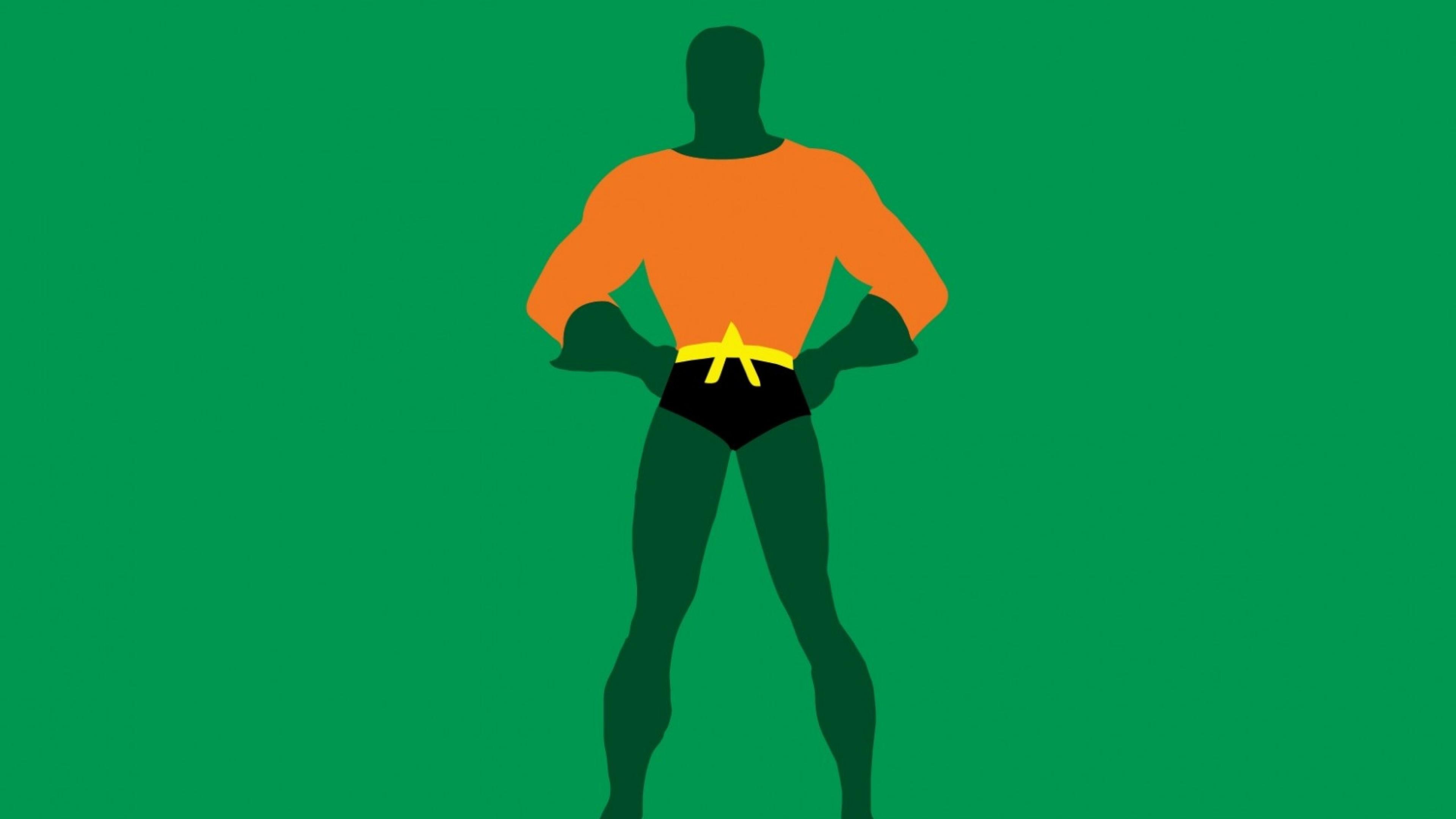Wallpaper justice league, aquaman, dc comics, minimalism