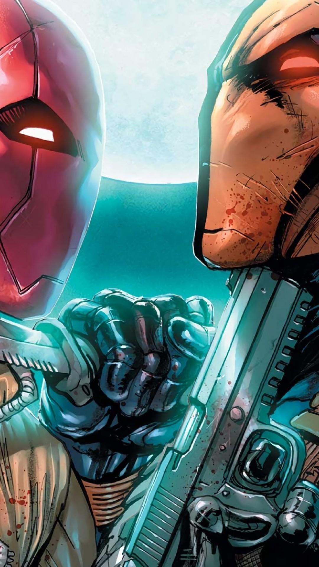 Deathstroke, Dc Comics, Gun, Knife
