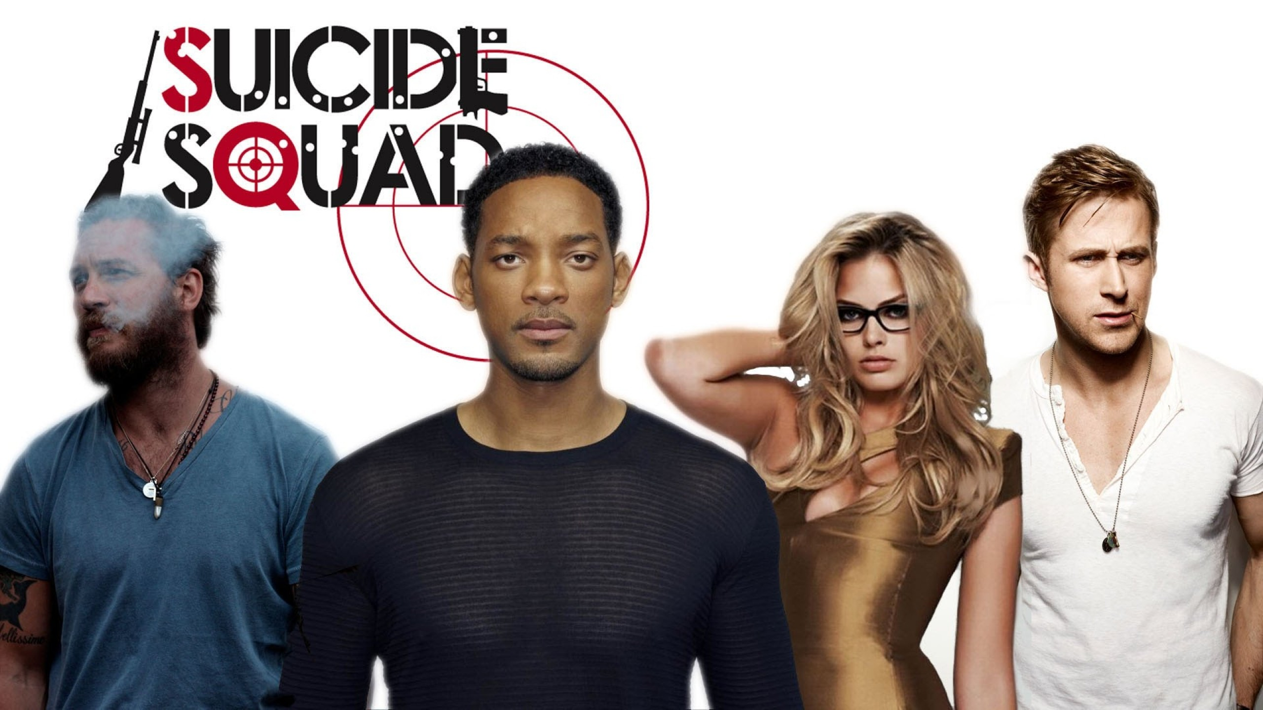 Preview wallpaper suicide squad, 2016, tom hardy, margot robbie, will smith,