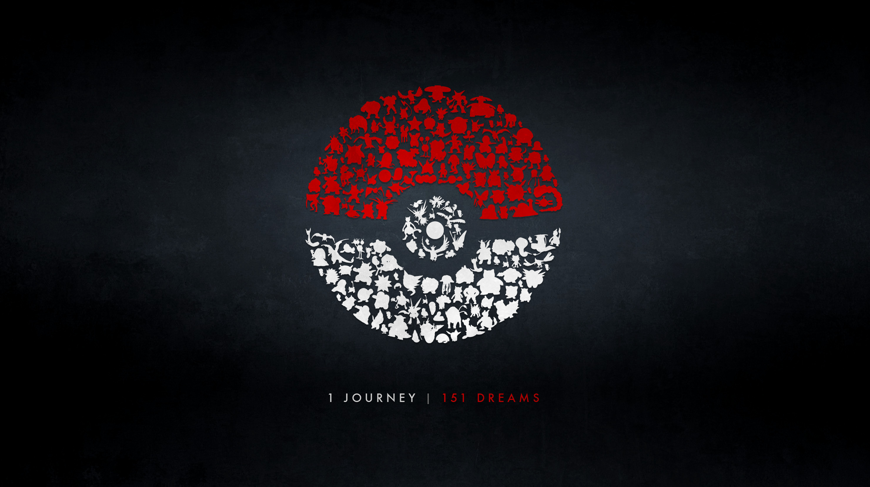 ArtMade a wallpaper using all of the Pokemon Go silhouettes …