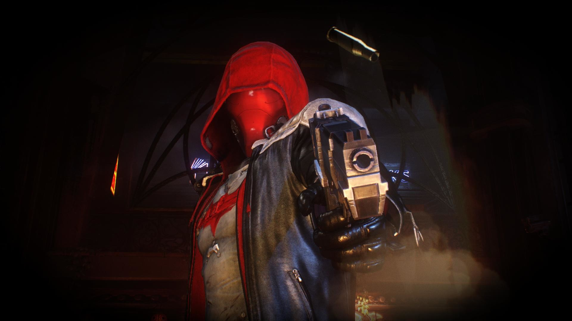 I took this screenshot in Arkham Knight's Red Hood Pack last night.