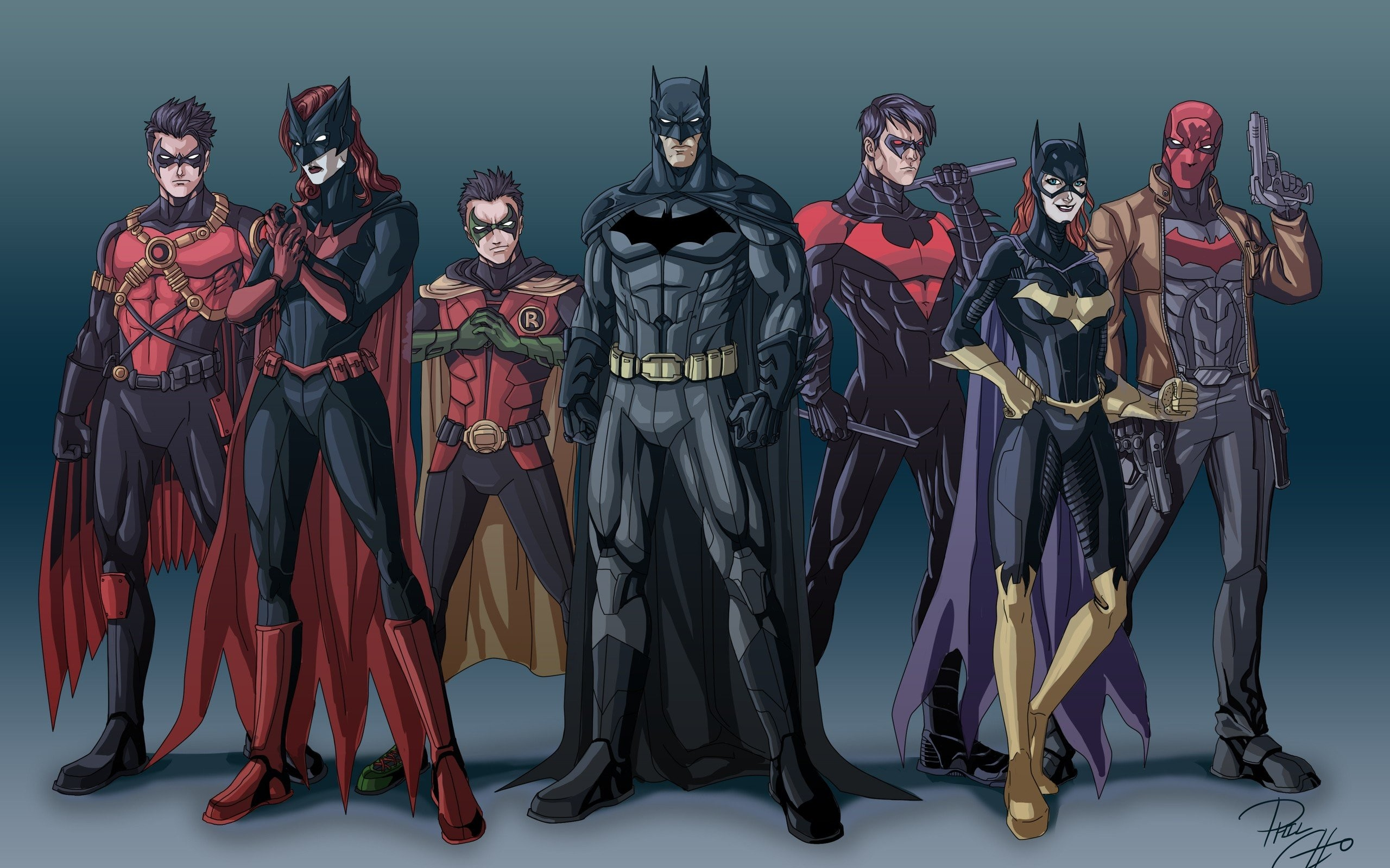 Artwork Batgirl Batman Batwoman Comics Dc Justice League Nightwing Red Hood  Robin Suit Superheroes