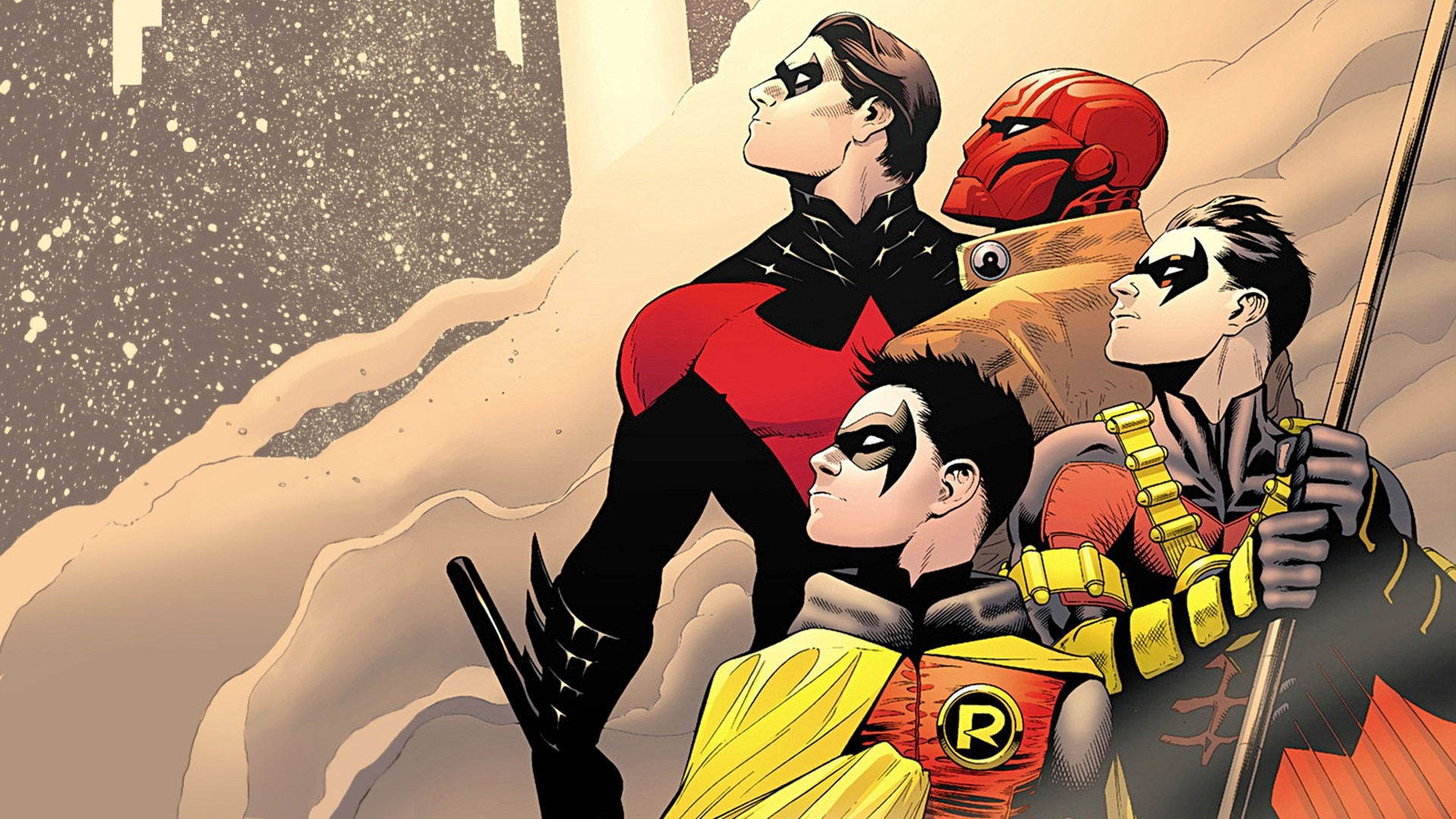 wallpaper Batman · Robin · Nightwing · Red Hood