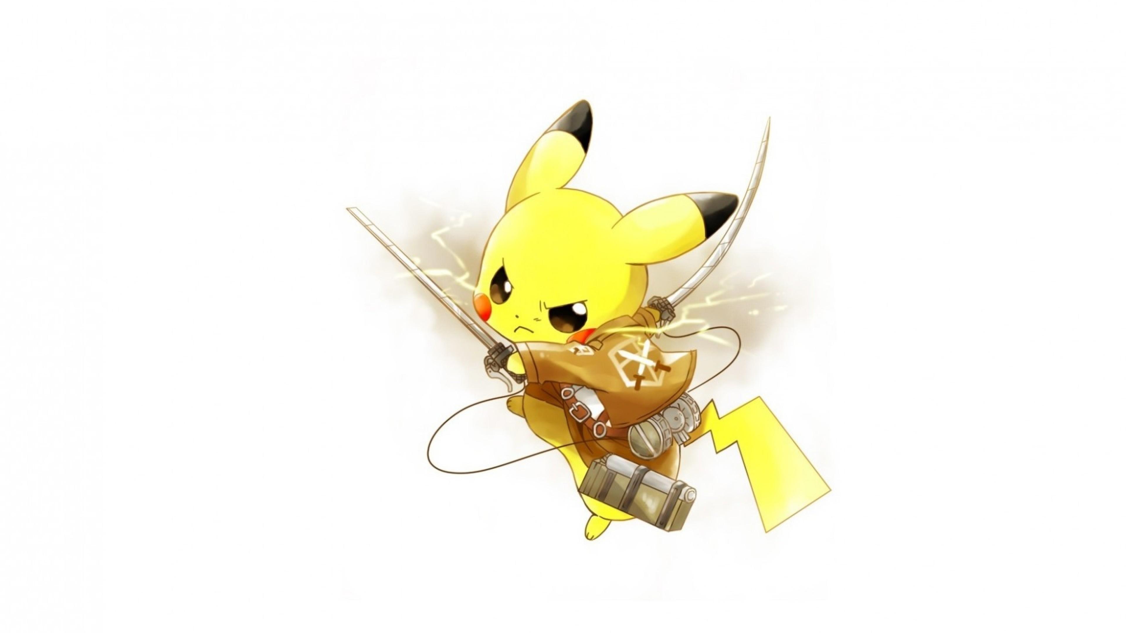 Wallpaper attack of the titans, pokemon, pikachu, art