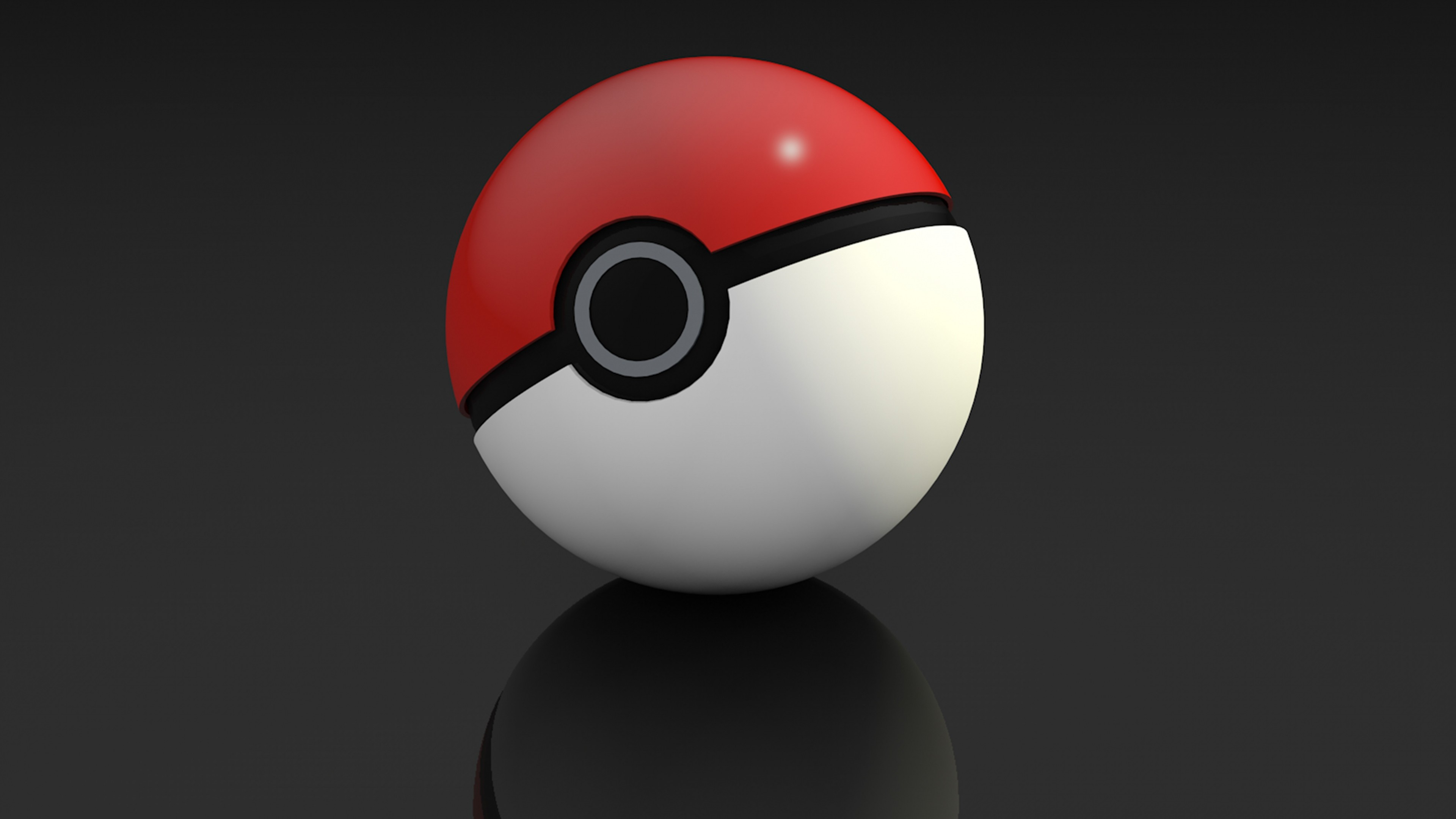 Wallpaper pokemon go, pokebol, game, 3d