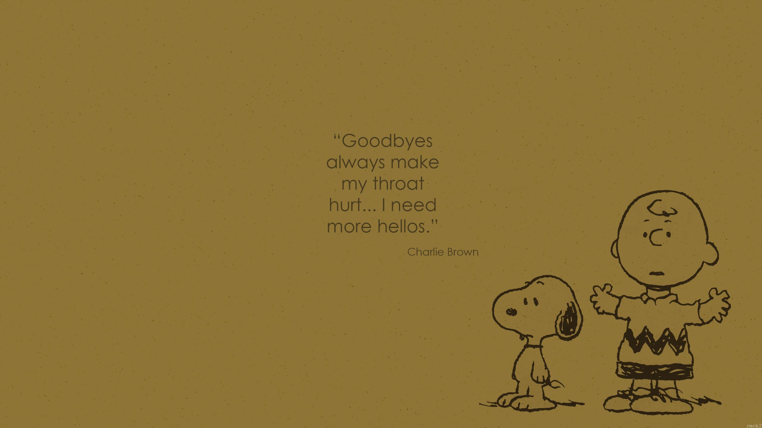 Wallpaper Charlie Brown quote 1 by rmck2 on DeviantArt