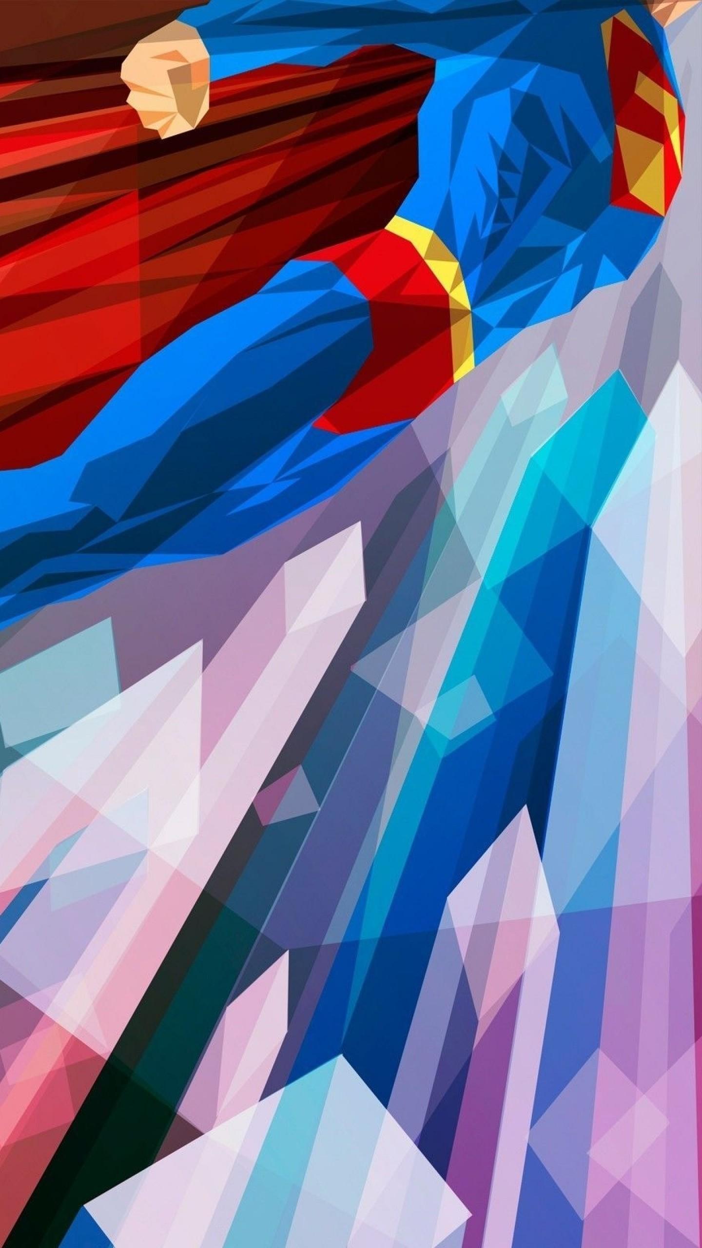 Preview wallpaper superhero, superman, bright 1440×2560