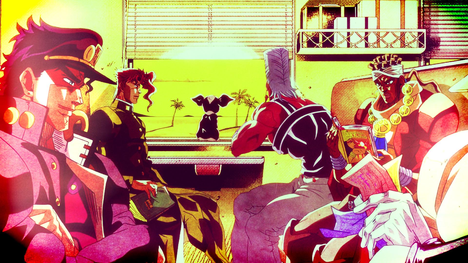 Anime – Jojo's Bizarre Adventure Jotaro Kujo Muhammad Avdol Iggy (Jojo's  Bizarre Adventure) Noriaki