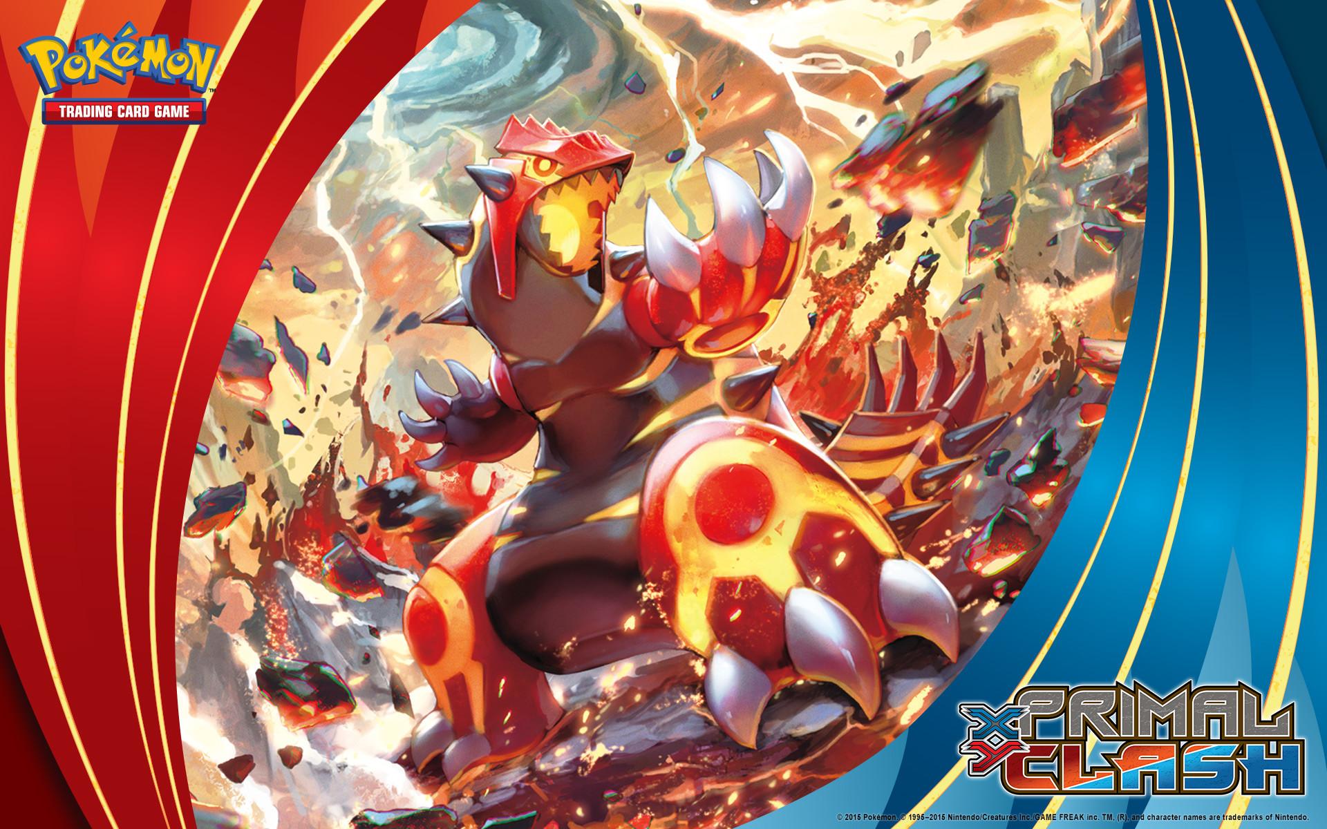 Pokémon TCG: <em>XY—Primal Clash</em> Primal Groudon. Wallpaper