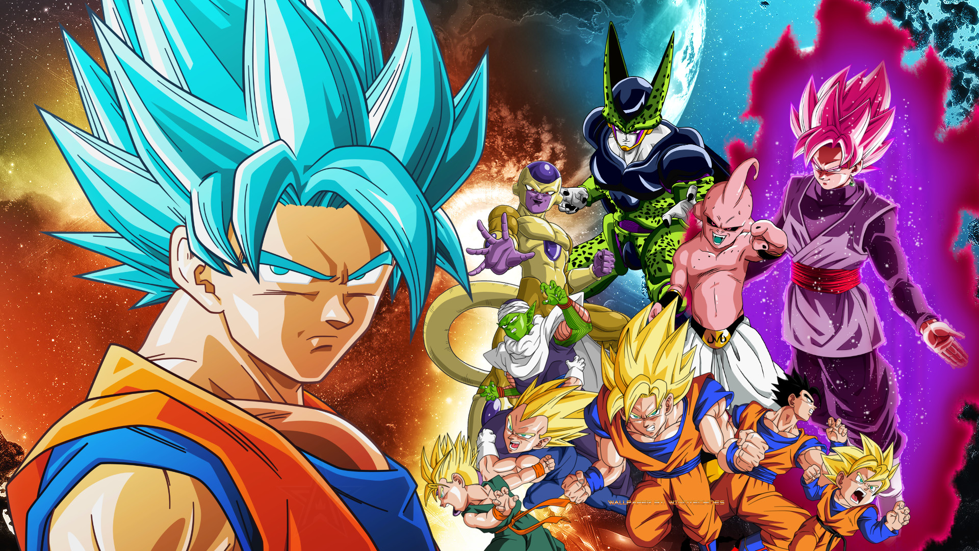 … Dragon Ball Z And Dragon Ball Super Wallpaper by WindyEchoes