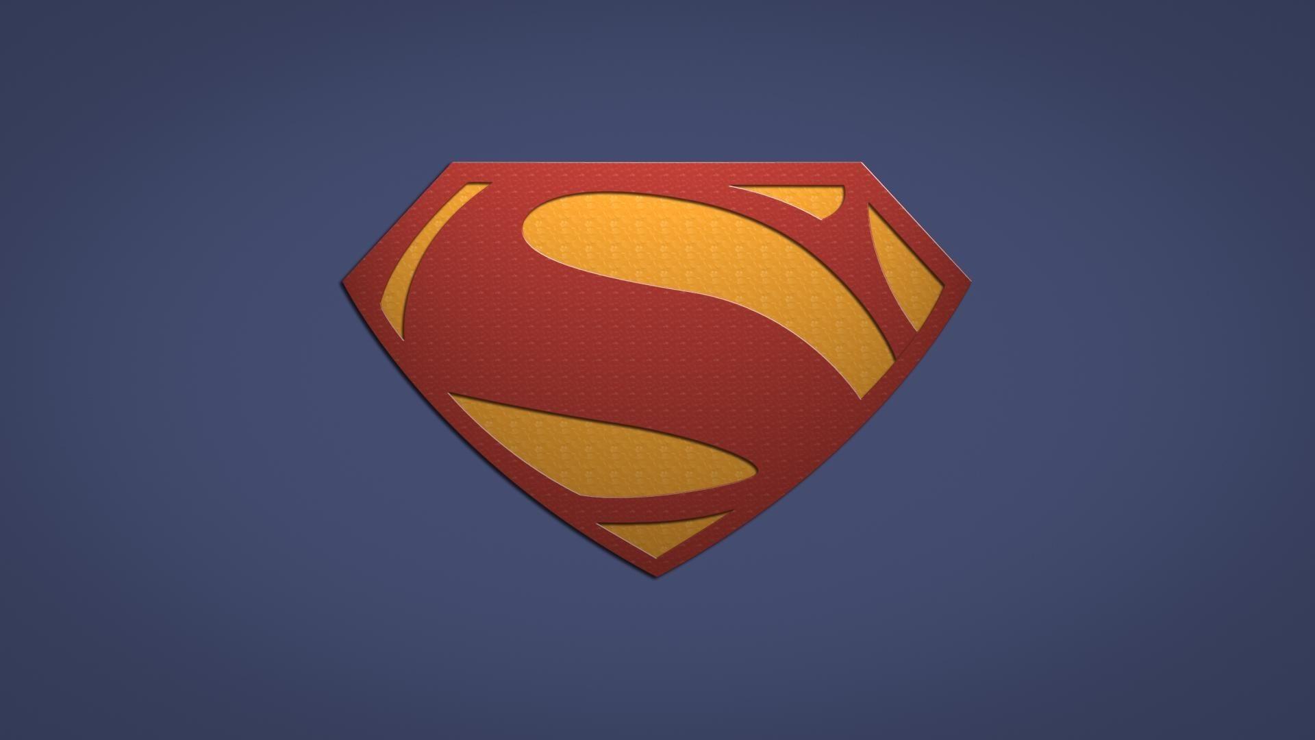 Live Superman Logo Wallpaper
