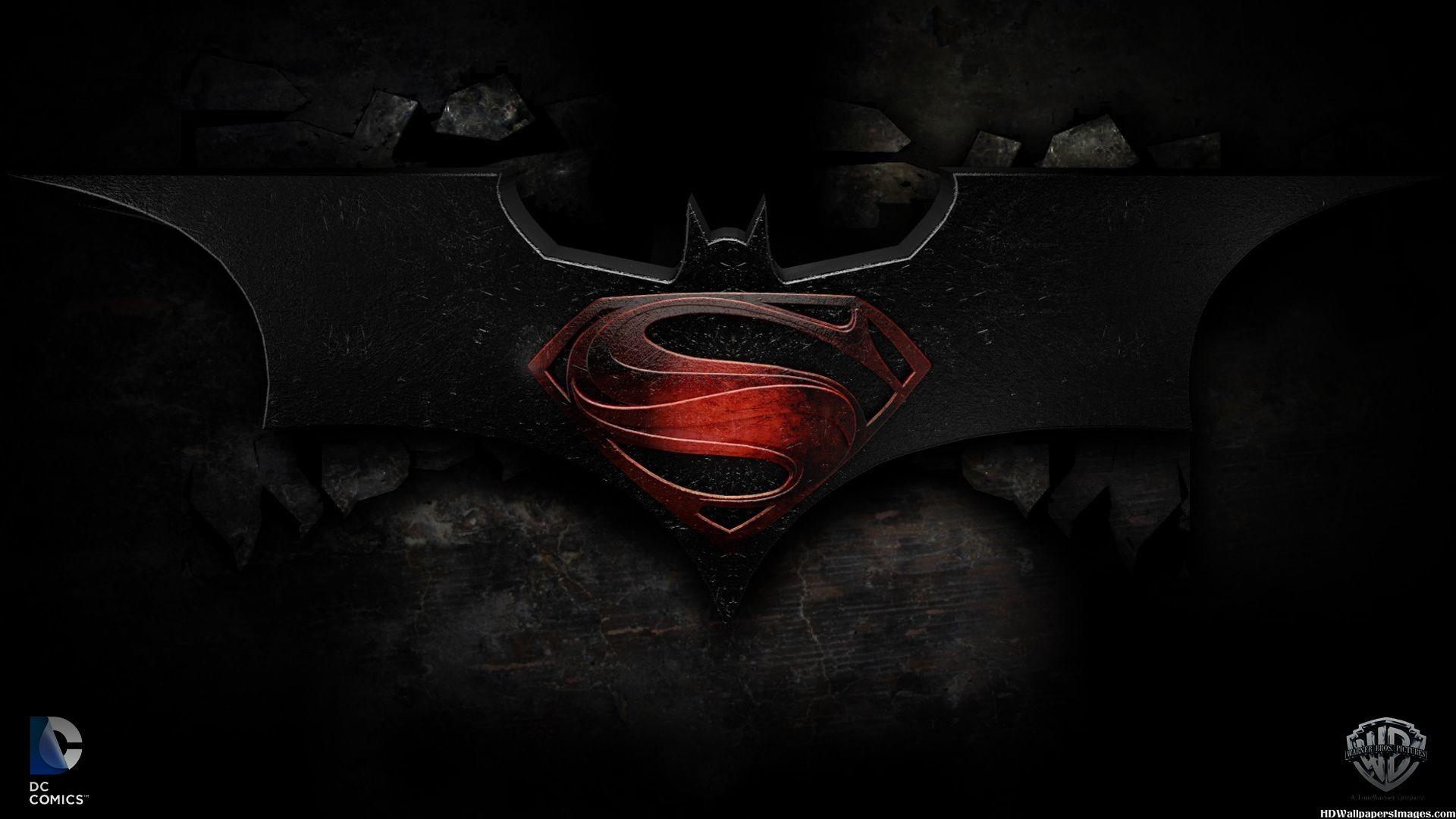 Superman Batman Logo Wallpaper Free HD