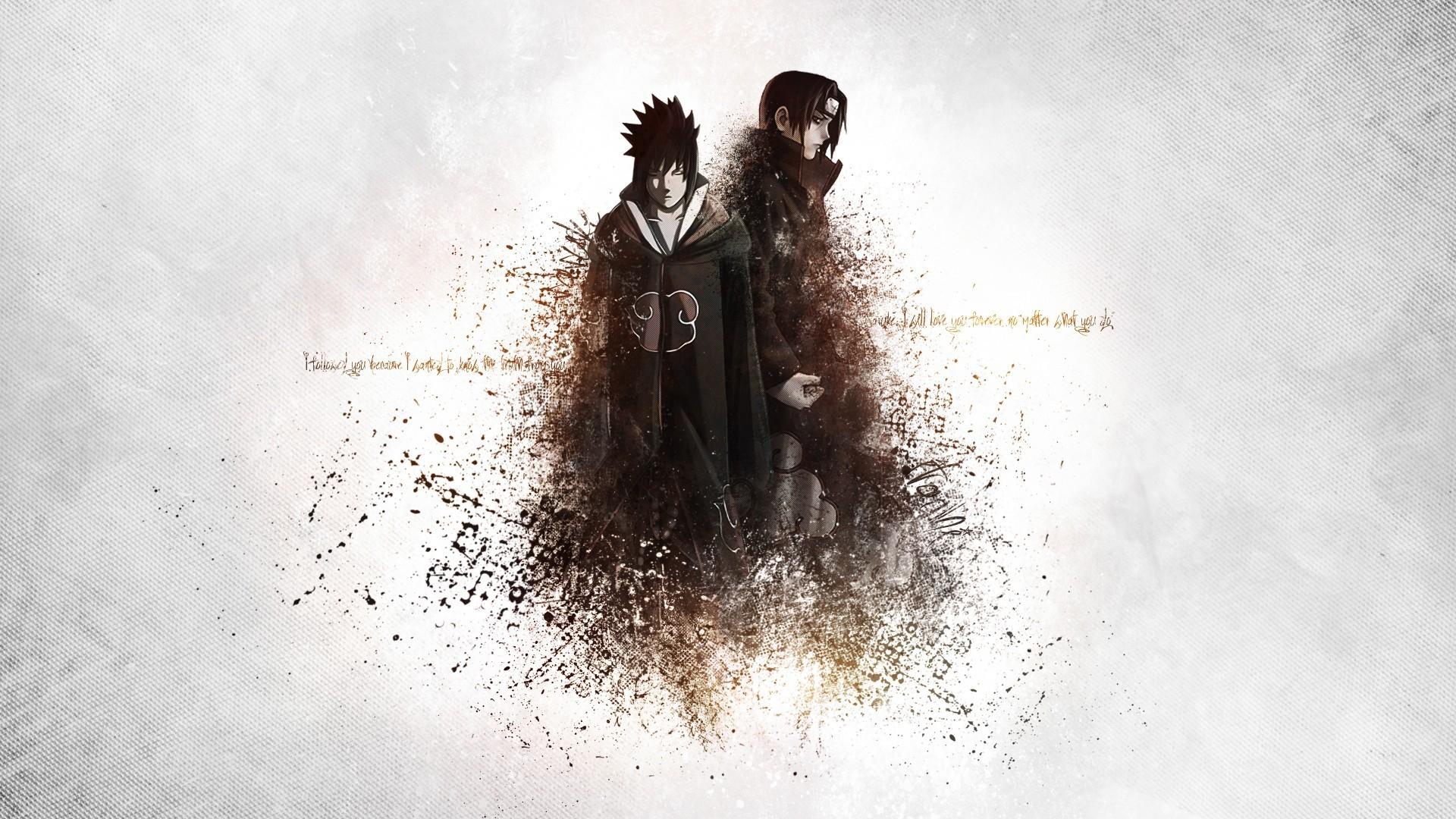 Uchiha Sasuke, Uchiha Itachi, Brothers, Naruto Shippuuden, Akatsuki Wallpapers  HD / Desktop and Mobile Backgrounds