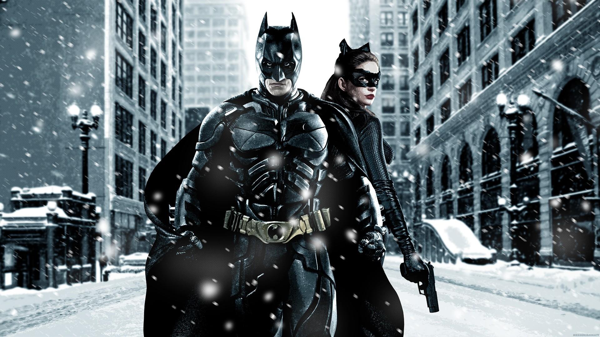 Batman and Catwoman HD Wallpaper