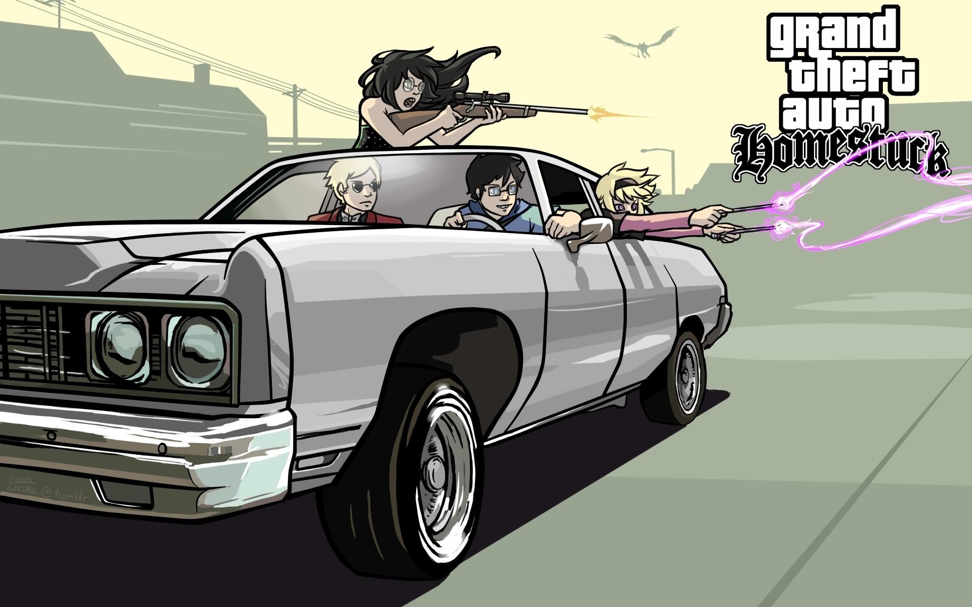 cars weapons grand theft auto sniper rifles homestuck gta san andreas john  egbert crossovers dave st