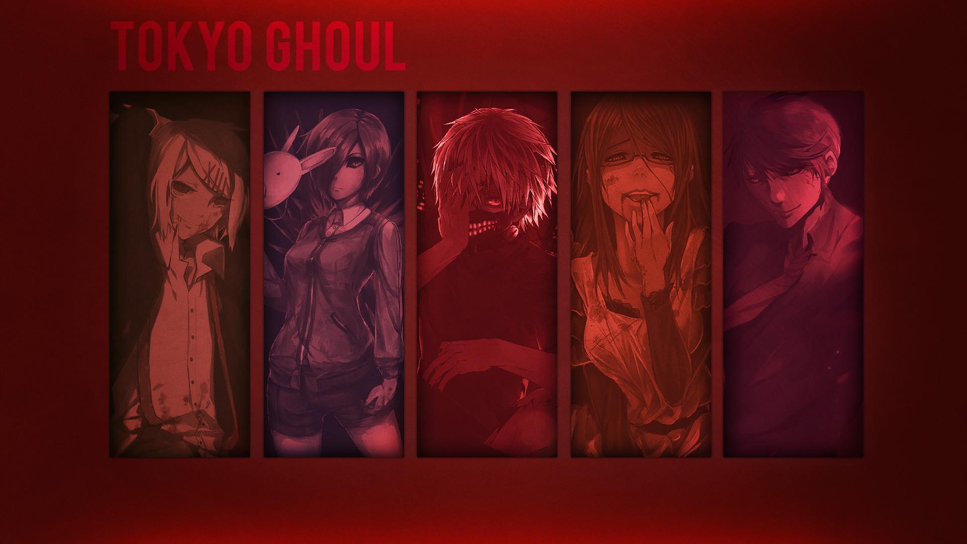 Anime – Tokyo Ghoul Ken Kaneki Juuzou Suzuya ShÅ« Tsukiyama Rize Kamishiro  Touka Kirishima Wallpaper