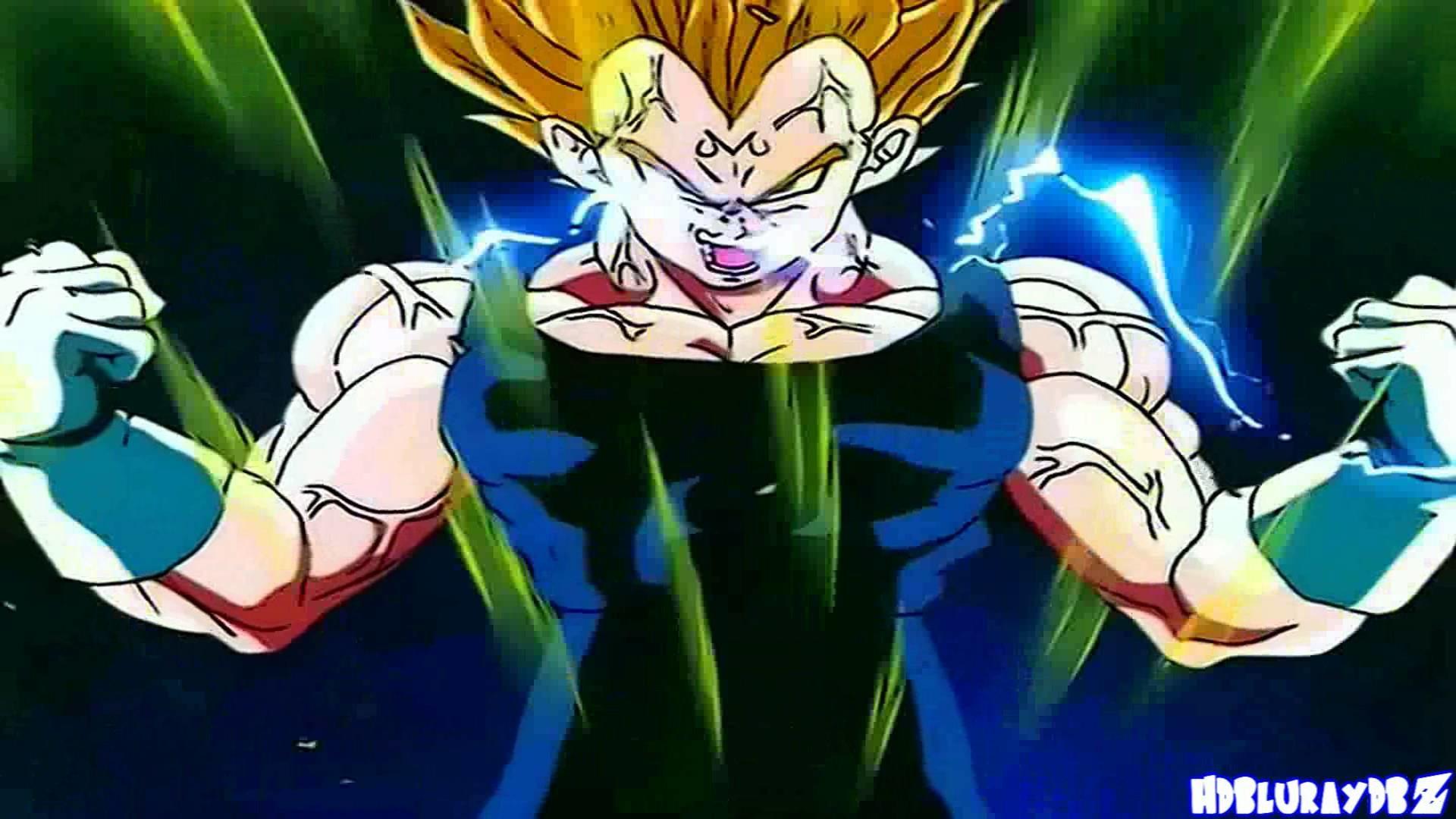 Goku & Majin Vegeta Transform Into SSJ2 [1080p HD]