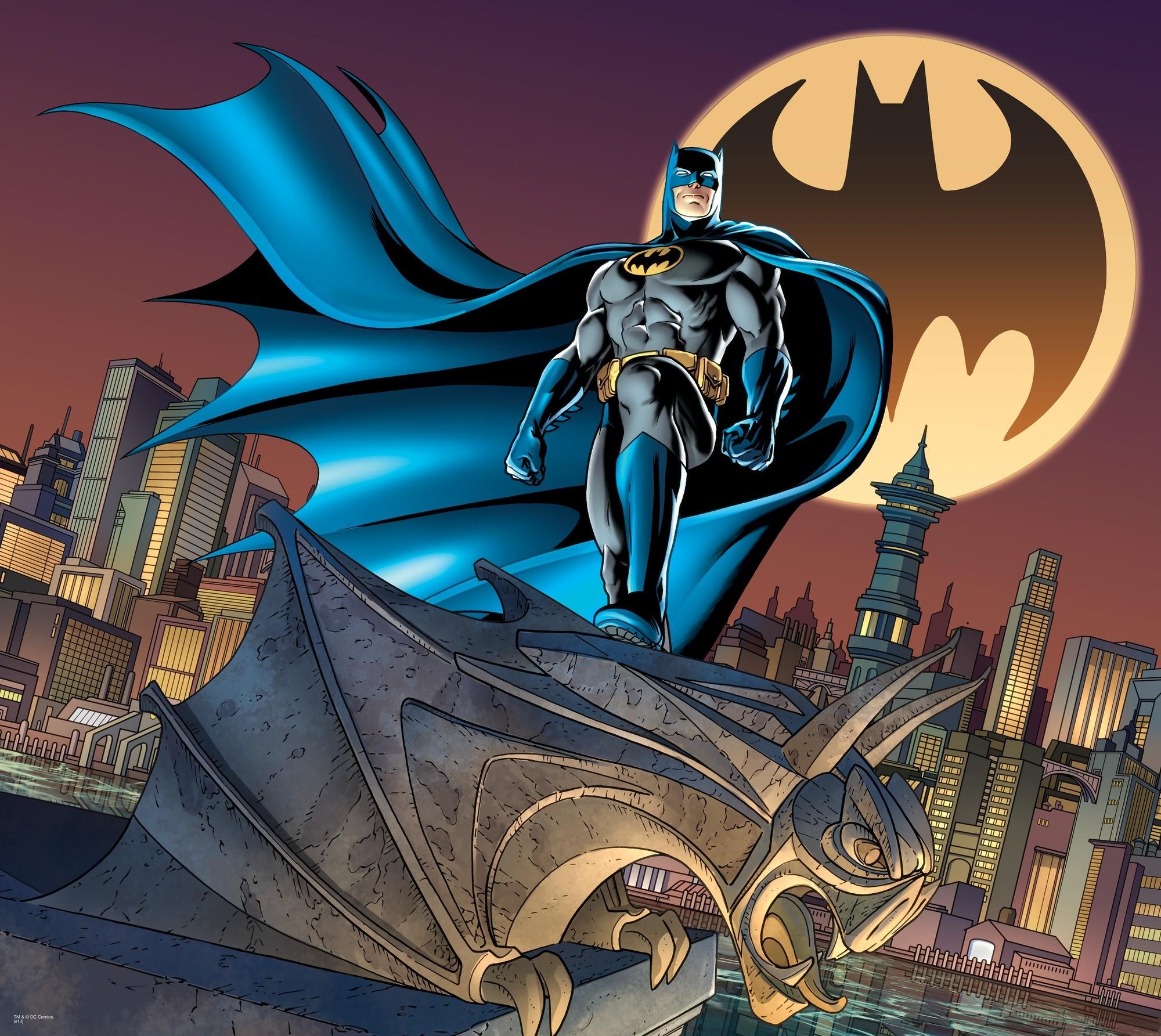 DC Comics Batman Bat Signal Logo wall mural