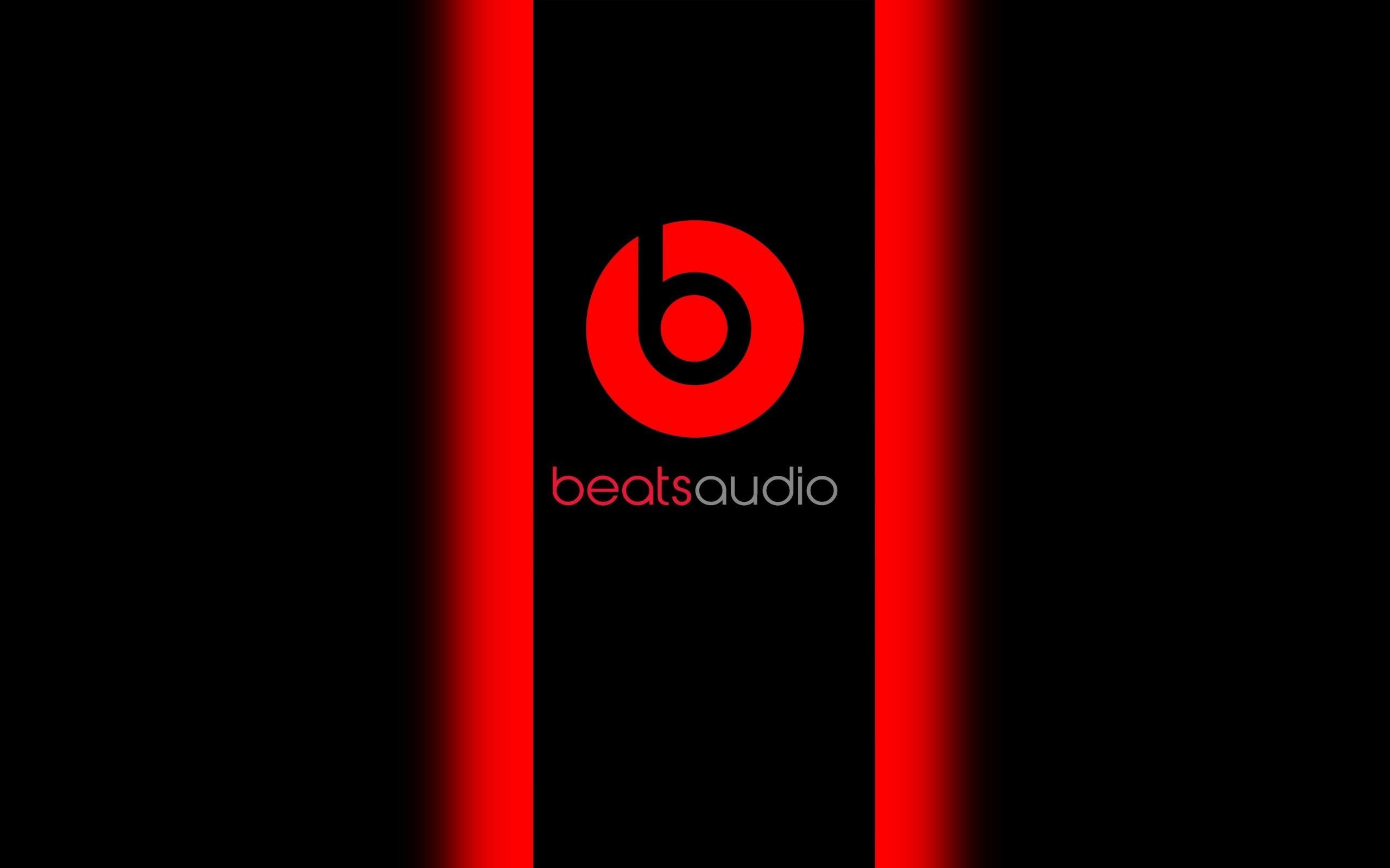 HD Background Beats Audio Logo Red Black Symbol Wallpaper .