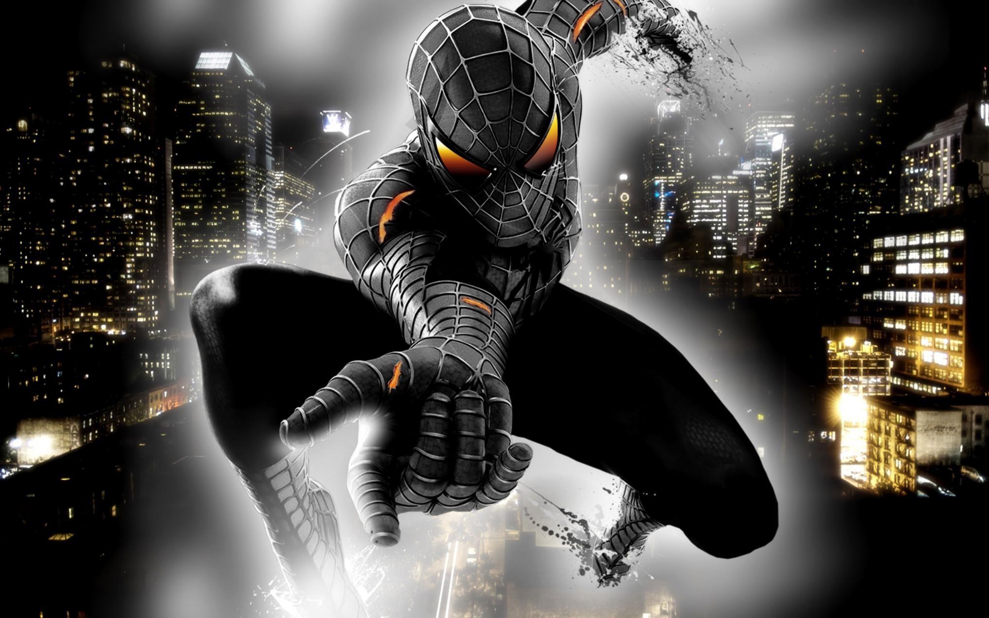Black Spiderman Iphone Desktop Wallpaper.
