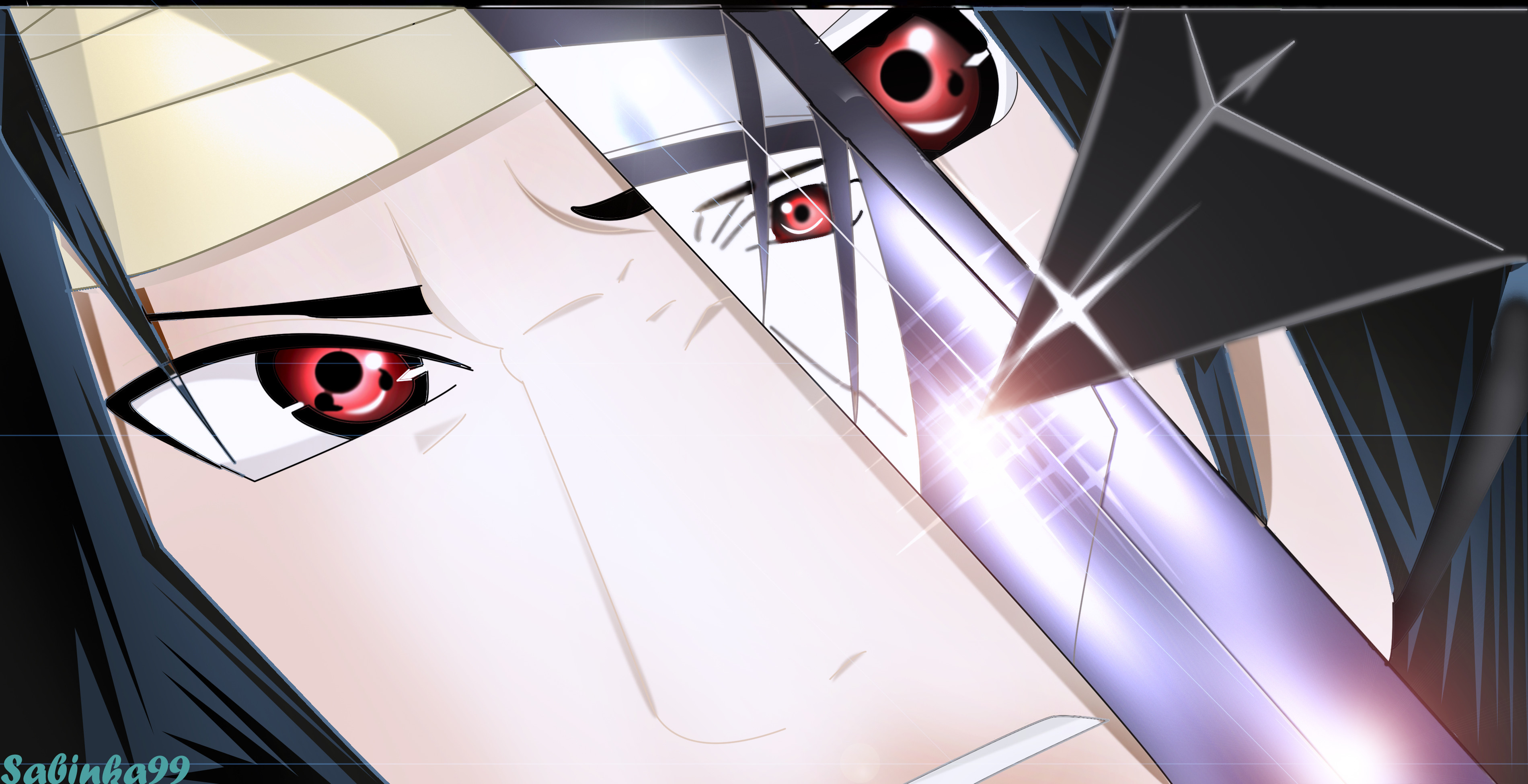 Tags: Anime, NARUTO, Uchiha Itachi, Uchiha Sasuke, Sabinka99, Facebook Cover