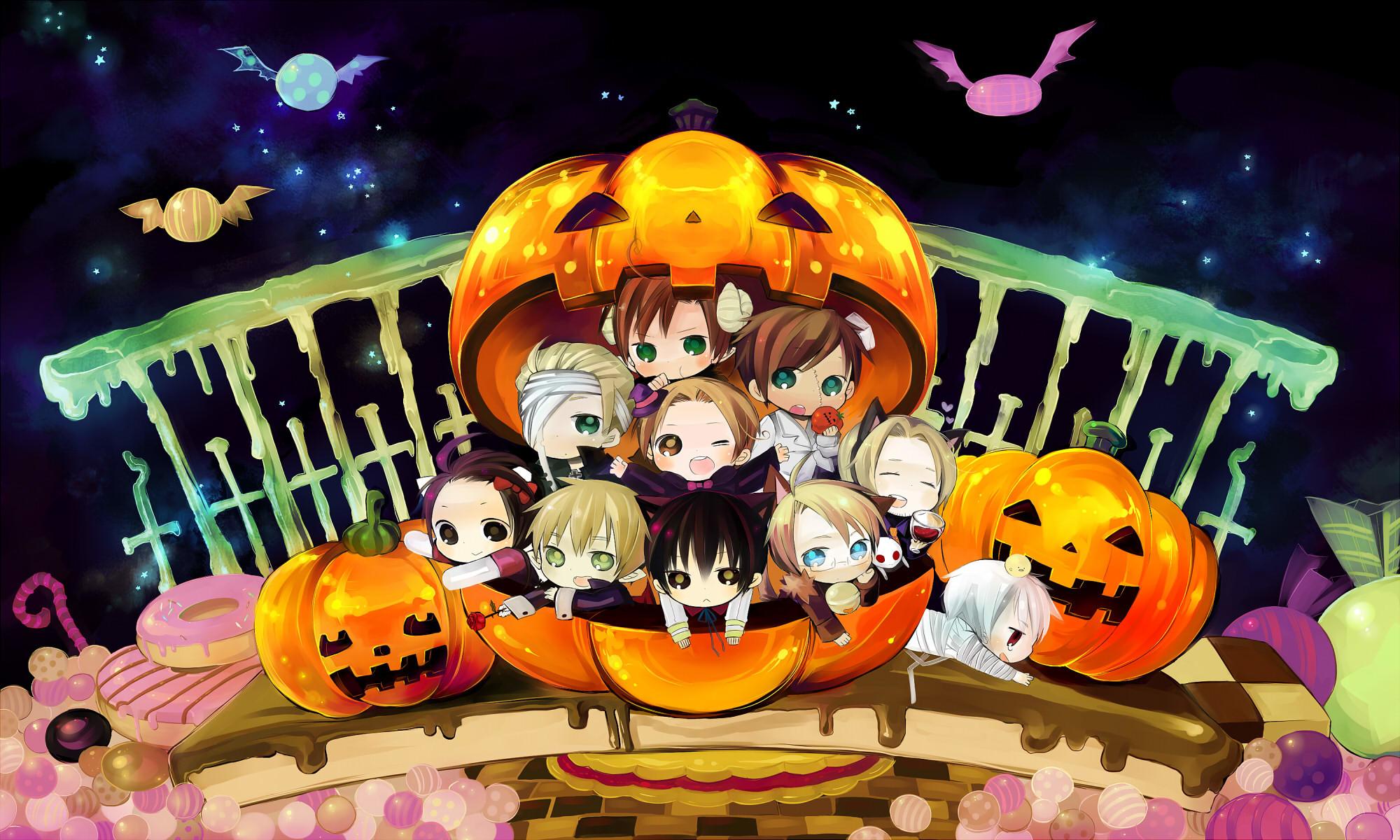 Anime Halloween Chibi Cartoon Halloween Short 21355wall.jpg