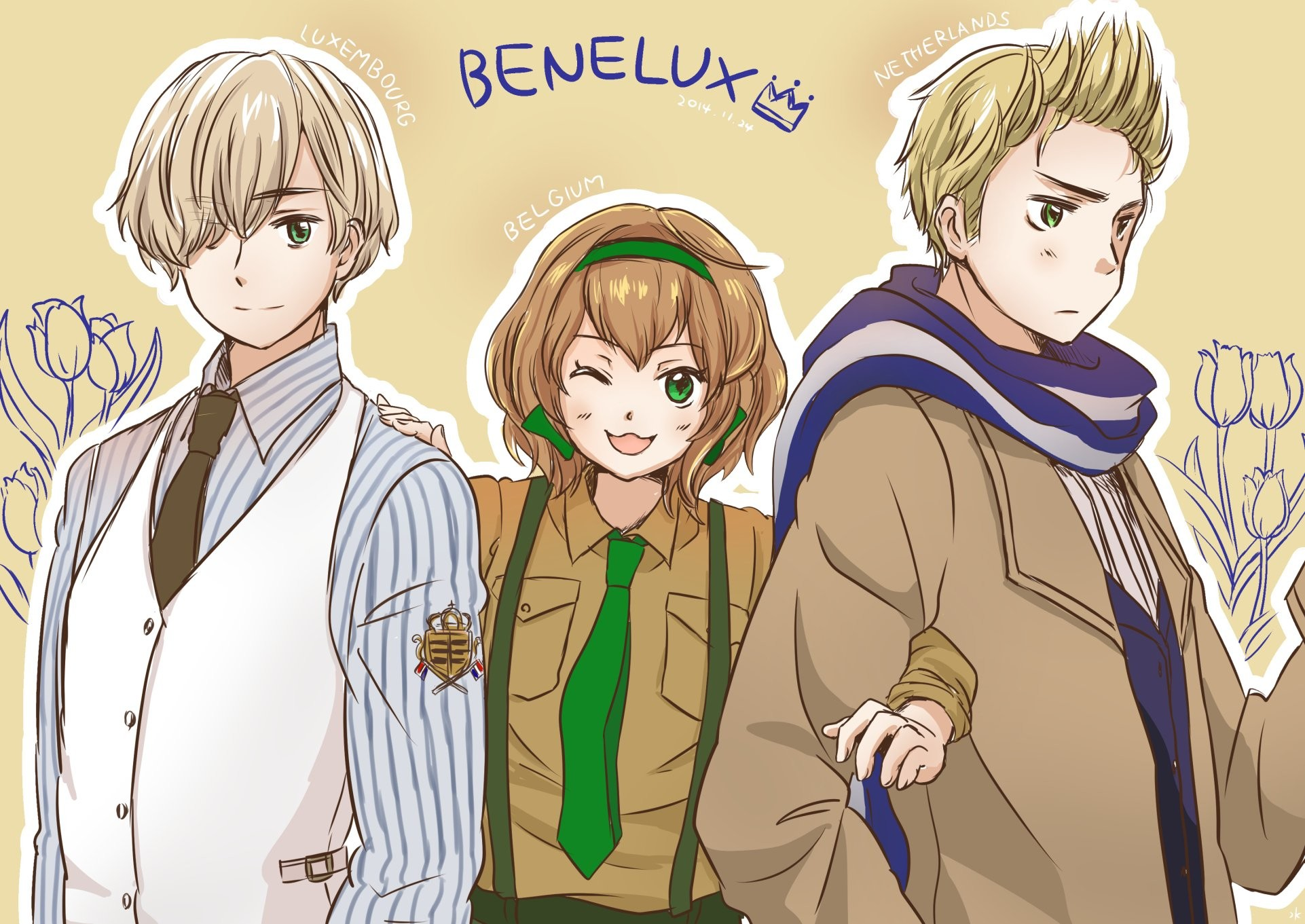 Axis Powers Hetalia Netherlands Belgium Luxembourg Brother And Sister  wallpaper | | 563135 | WallpaperUP