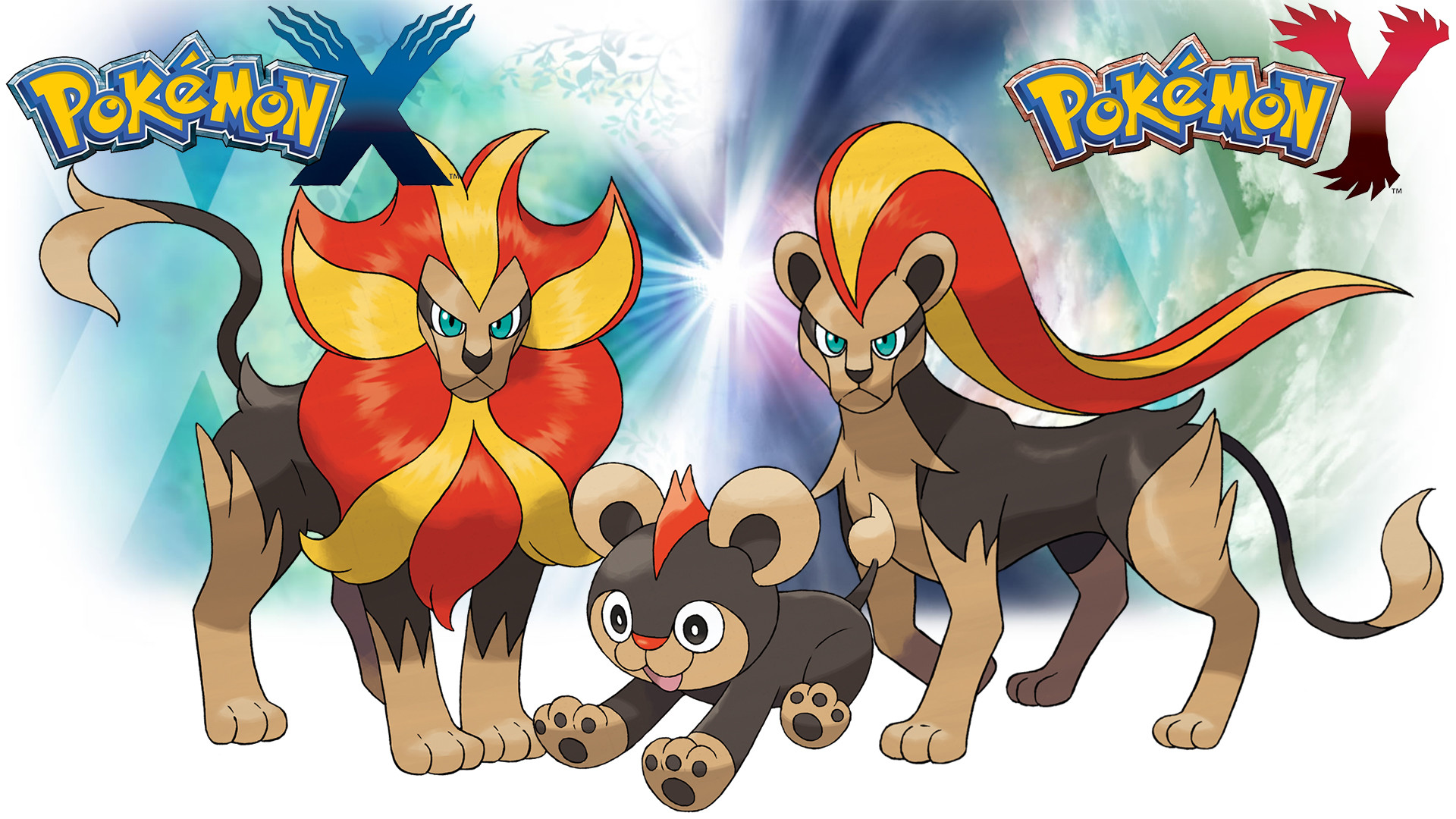 … Pokemon X Y – Wallpaper – Litleo and Pyroar by Thelimomon