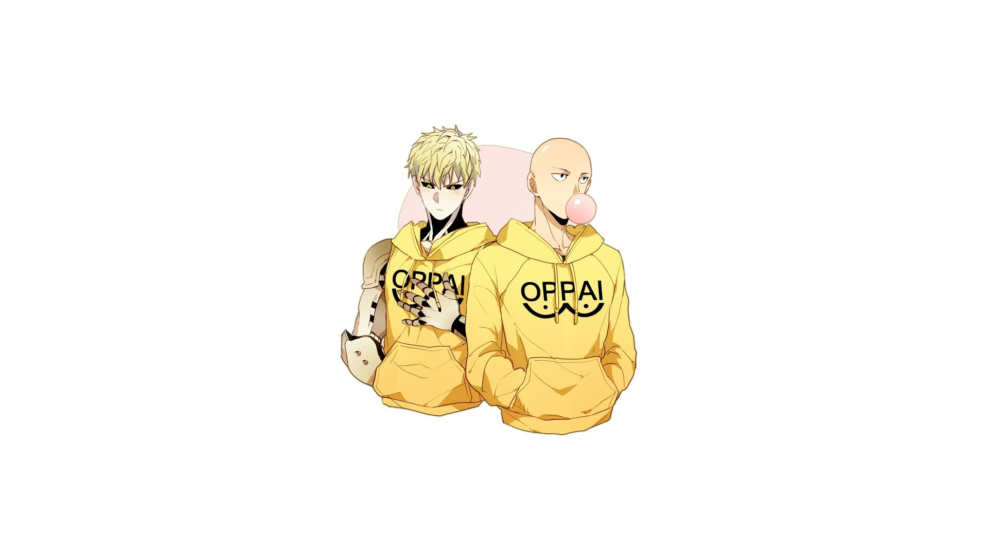 A bag of One Punch Man wallpapers.