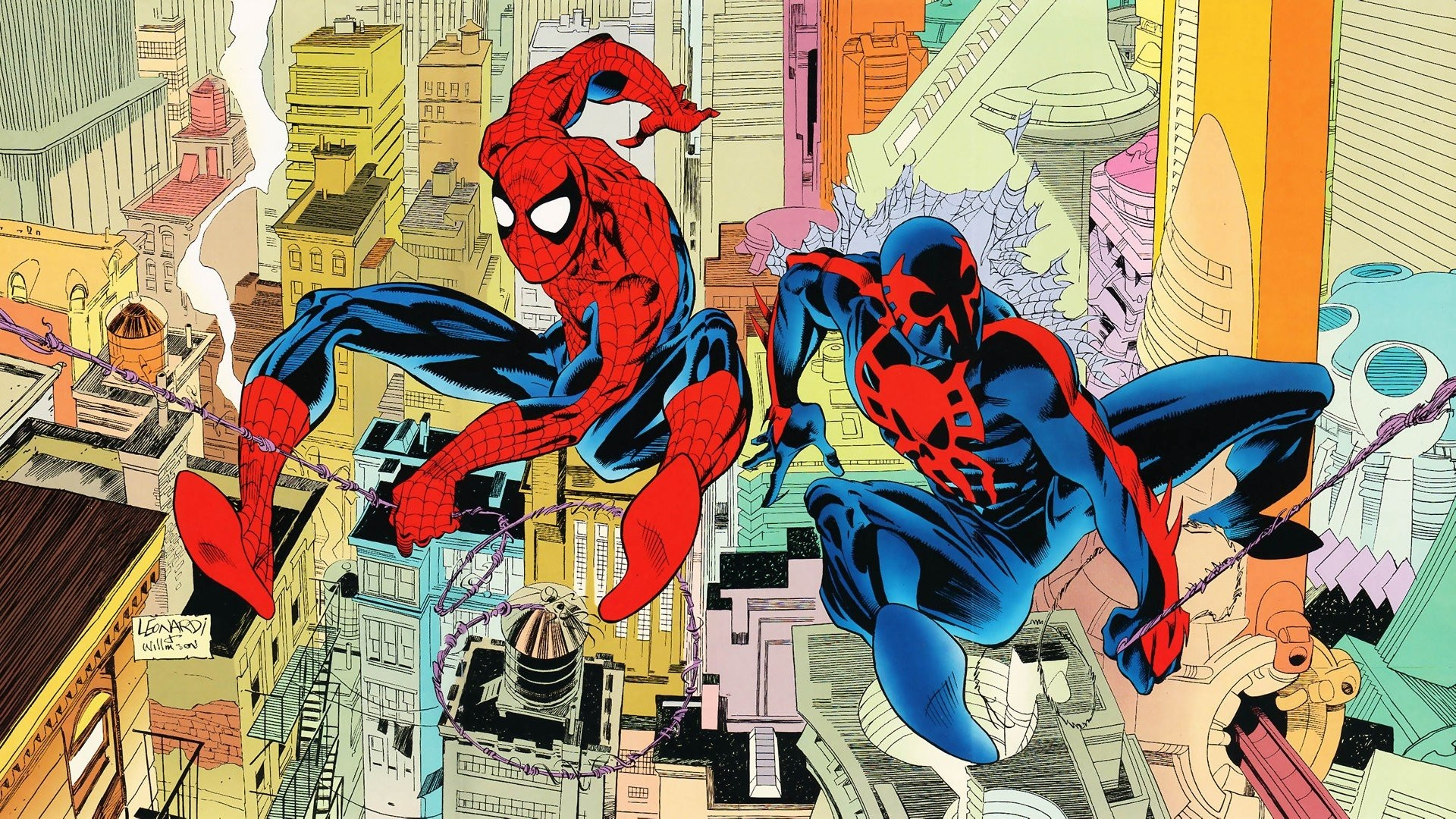 Comics Spider-Man Peter Parker Spider-Man 2099 Miguel O'Hara wallpaper  | | 290734 | WallpaperUP