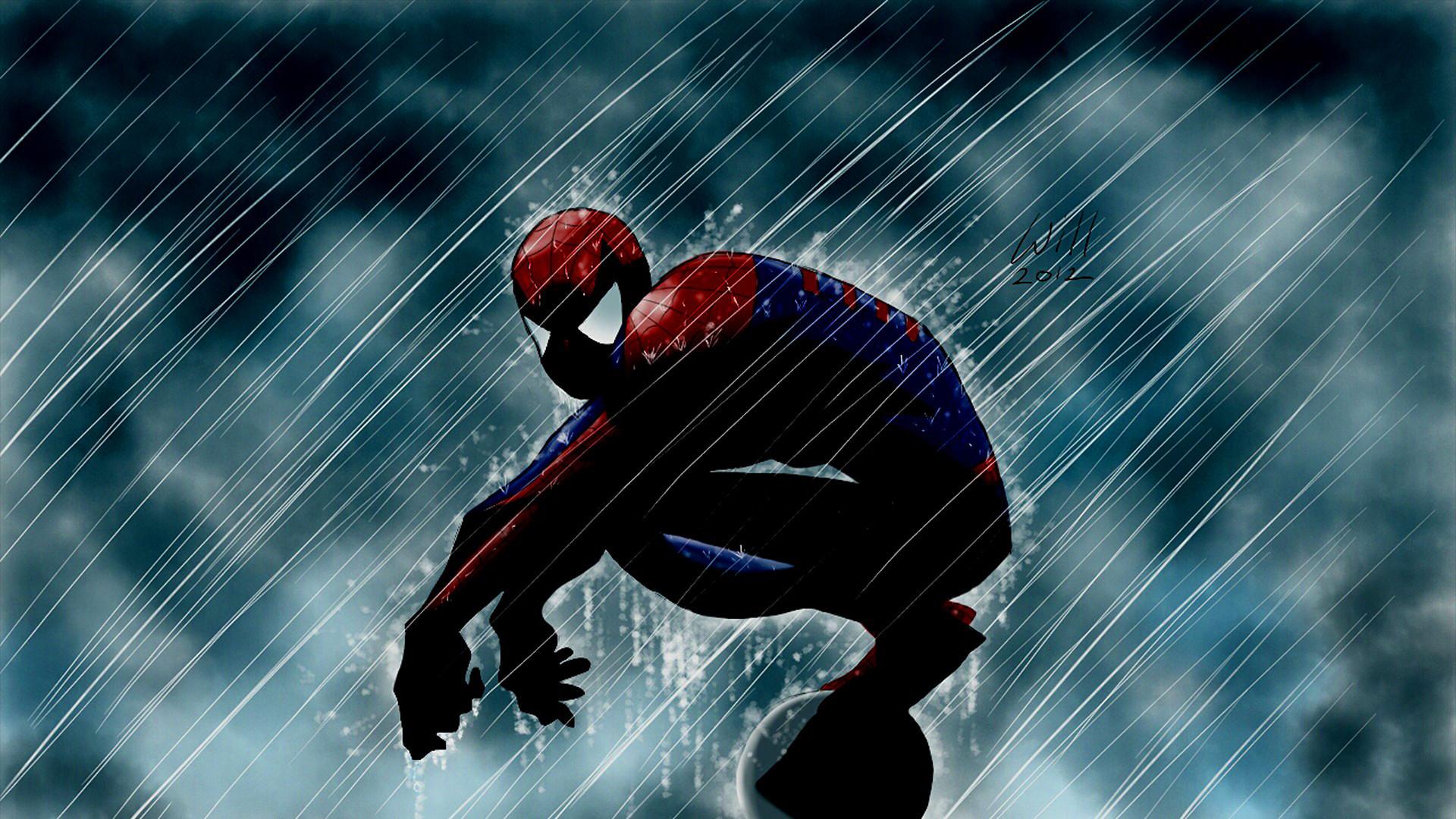 Spider-Man in Rain Renewed by ~Sephirozaine