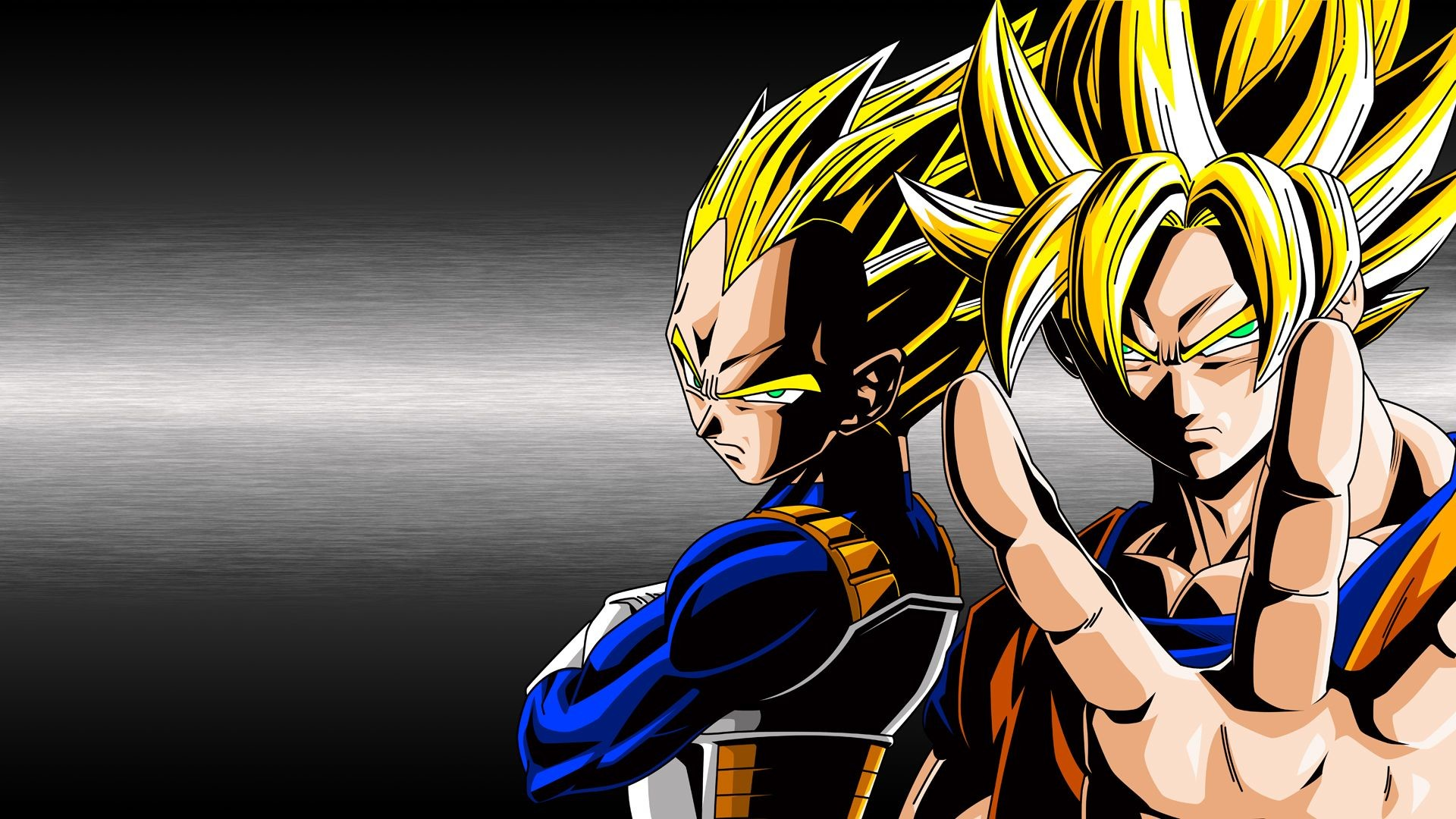 Goku and Vegeta Super Saiyan God Fusion – wallpaper.