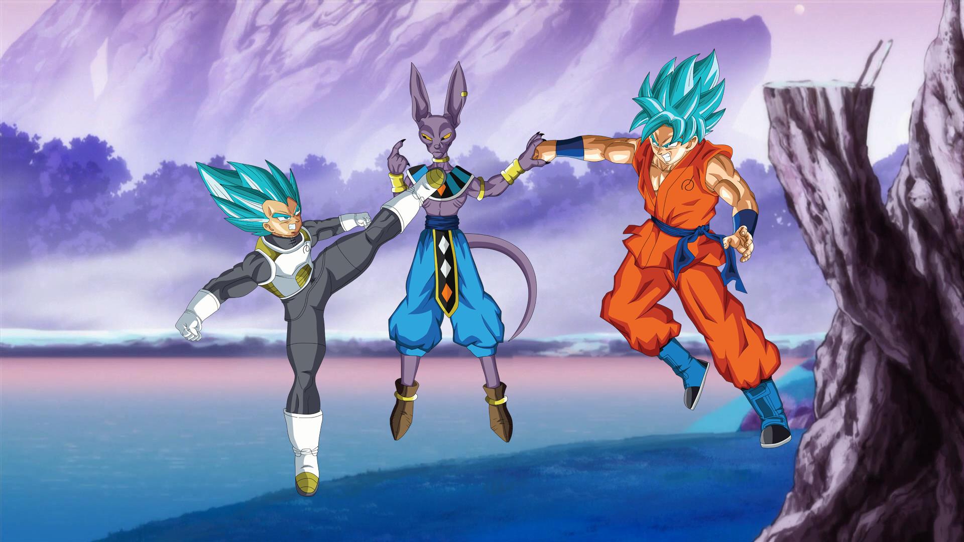 Vegeta and Goku SSGSS vs Lord Beerus Wallpaper by EymSmiley on .