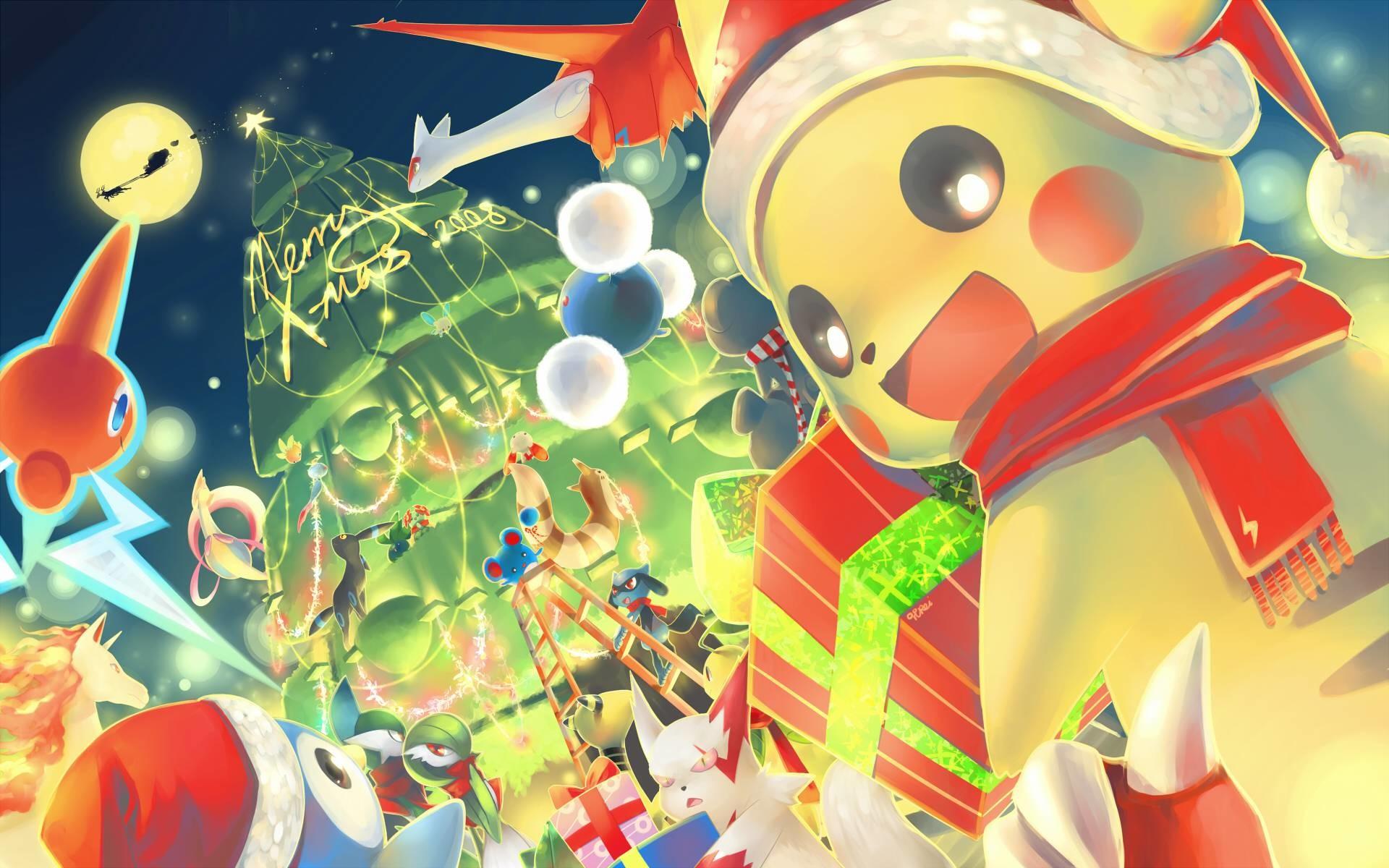 Pix For > Pokemon Christmas Wallpaper