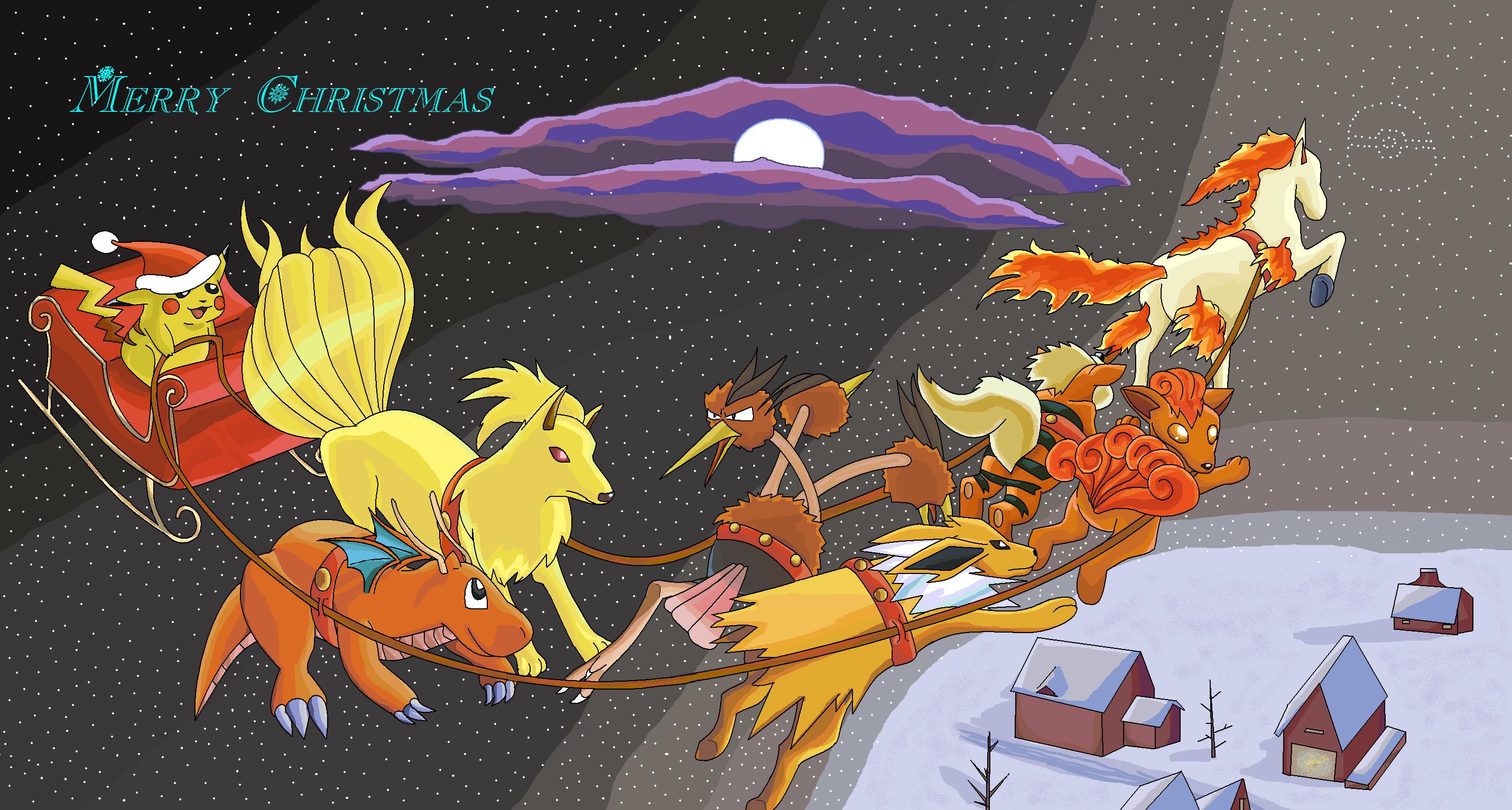 Pokemon Christmas 2000! by SalamencePaint Pokemon Christmas 2000! by  SalamencePaint