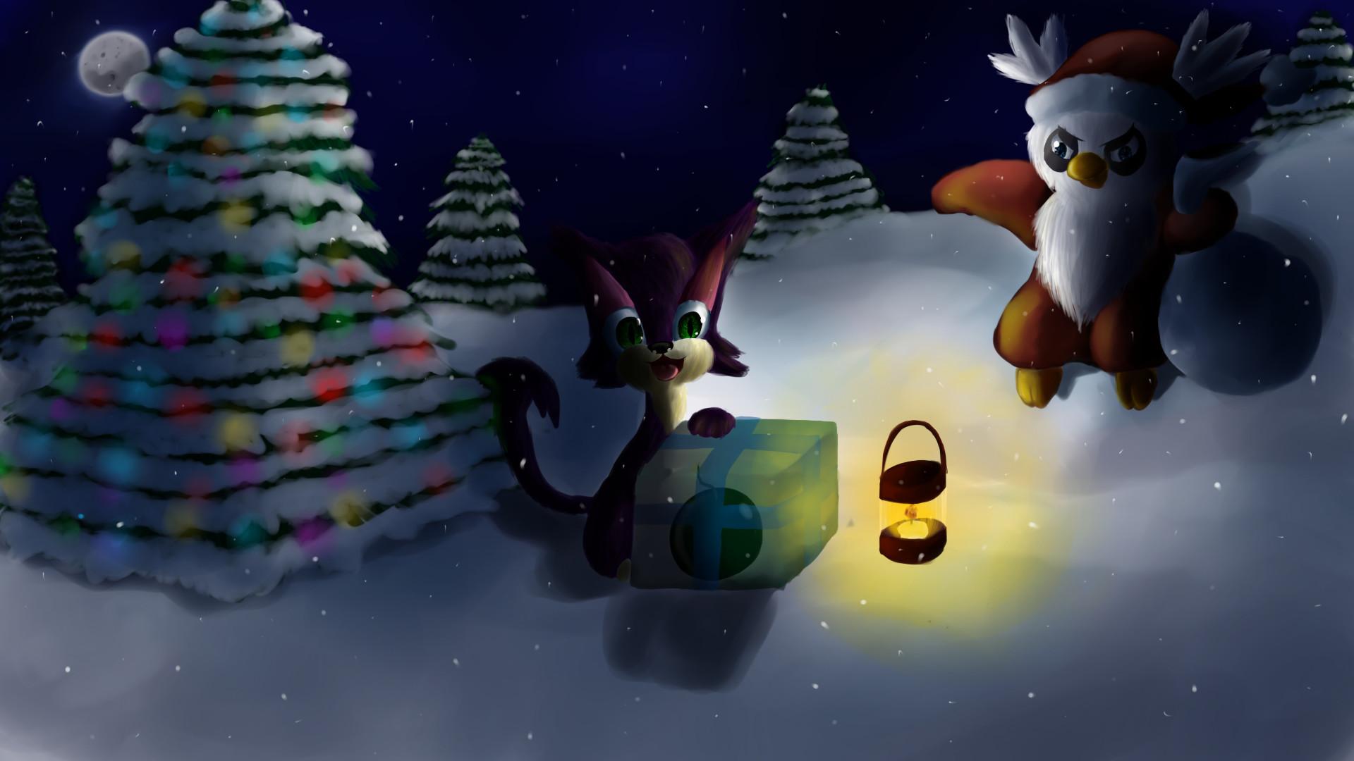 … Bad Santa ~Christmas Pokemon Wallpaper~ by Chicorii