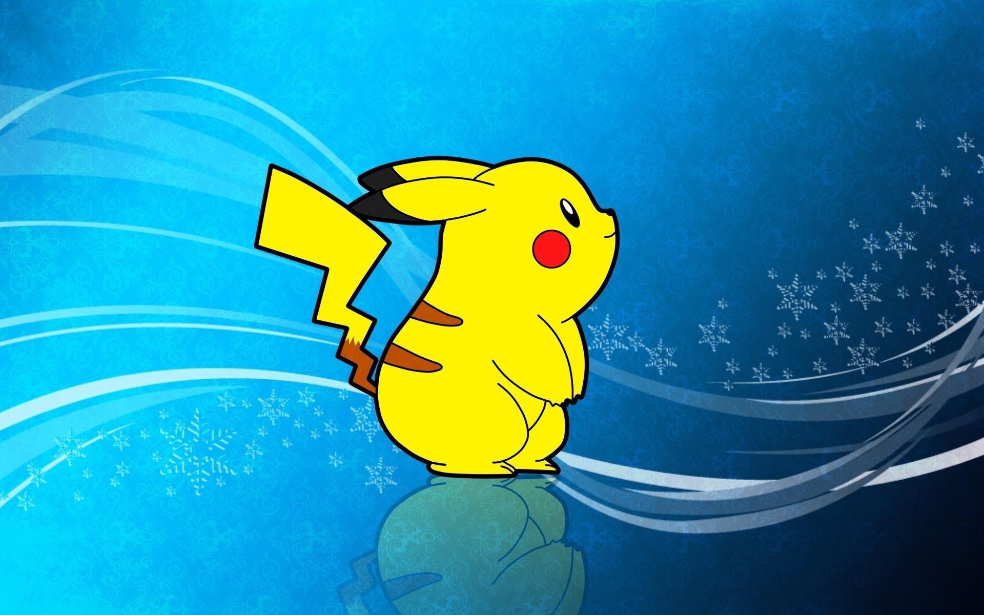 Pikachu pokemon yellow anime HD wallpaper.