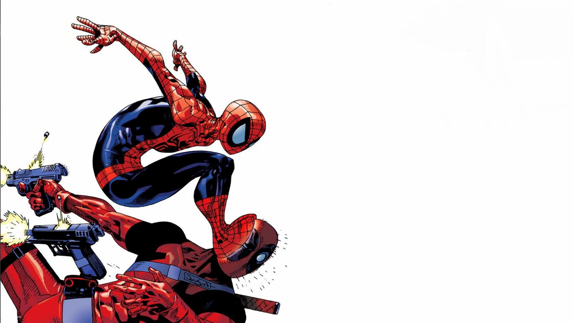 Comics Deadpool: Monkey Business Deadpool Merc With A Mouth Spider-Man  Wallpaper