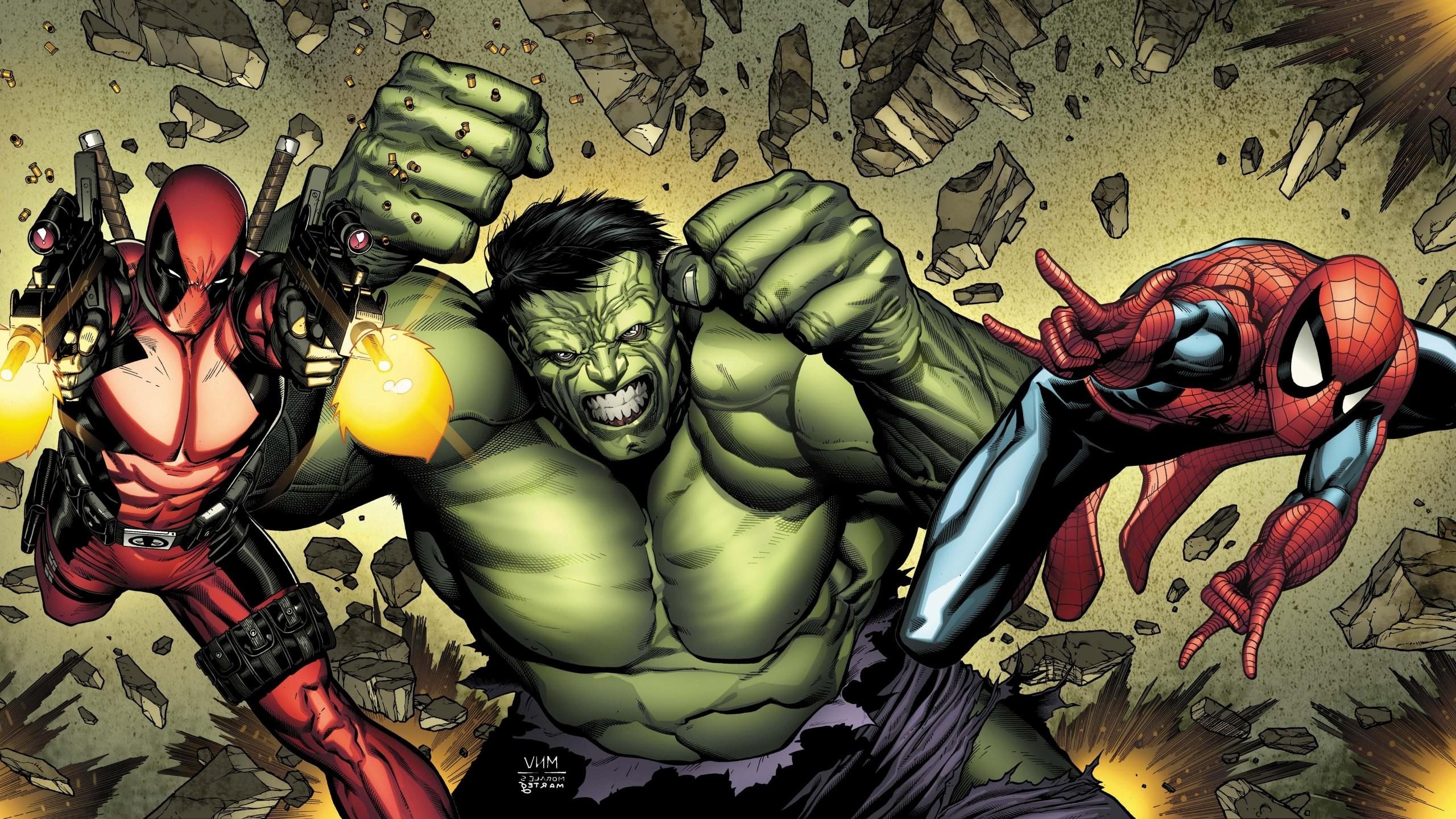 Hulk, Spider Man, Deadpool, Marvel Comics Wallpapers HD / Desktop and  Mobile Backgrounds