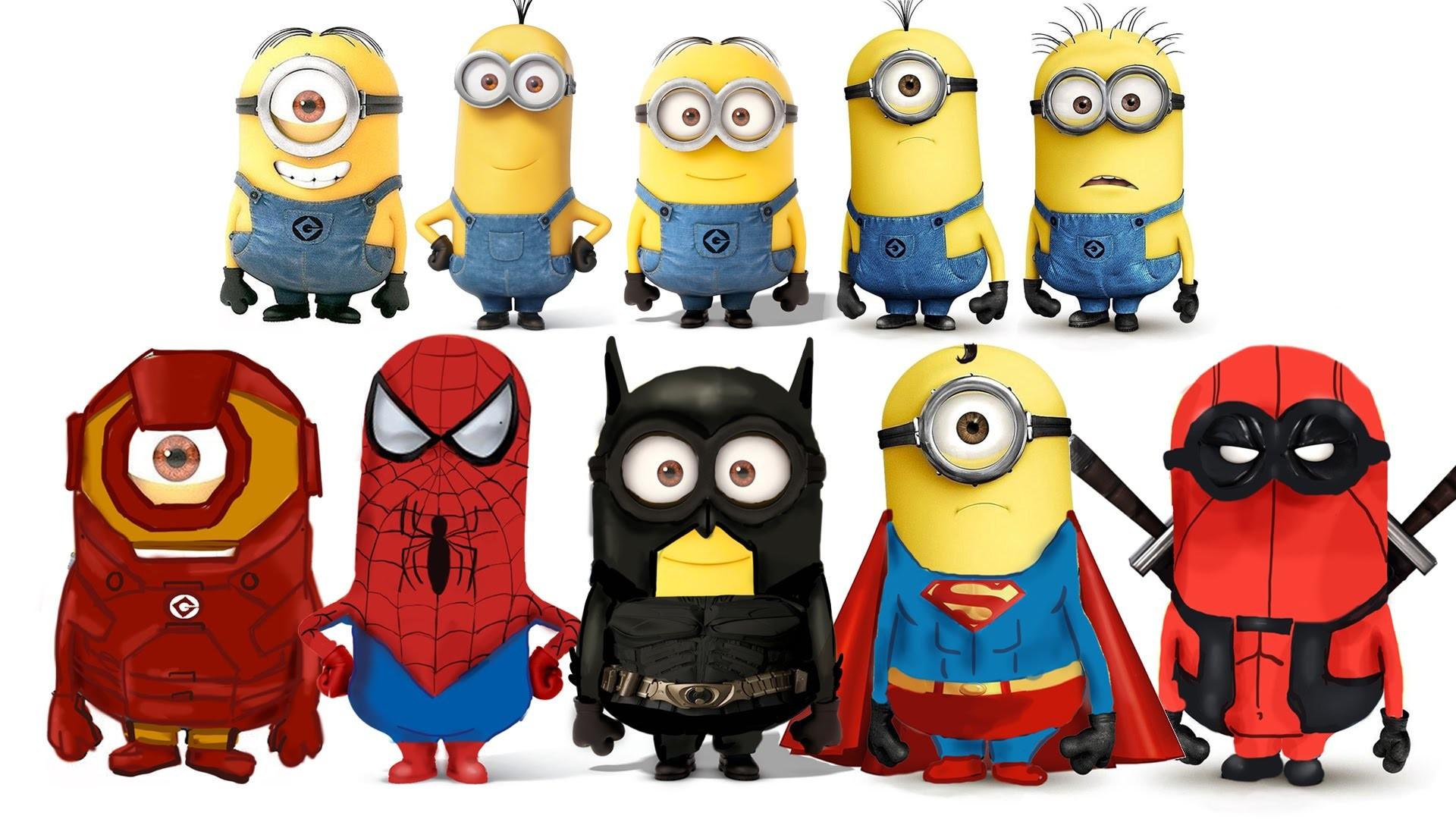 Kids Minion Superhero Transformations – Spider-Man, Batman, Deadpool,  Superman, Ironman – YouTube