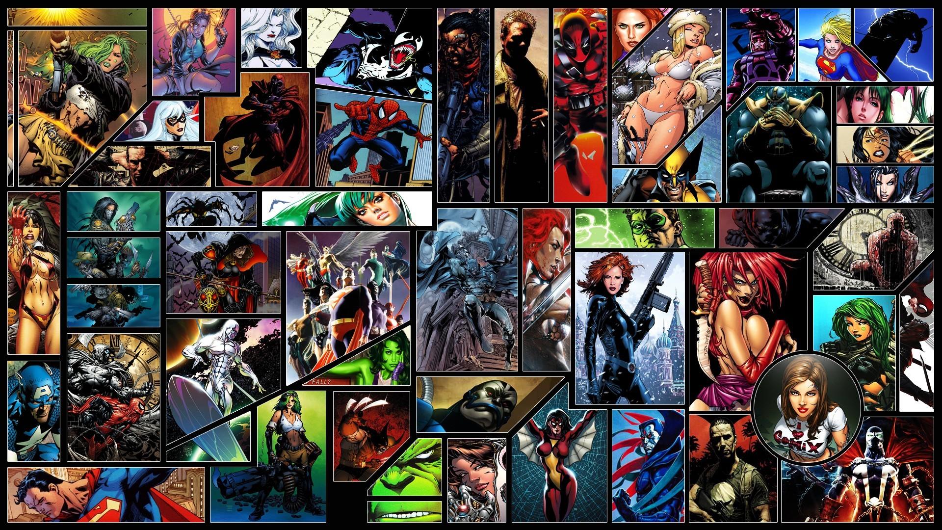 Marvel Black Widow Spider-Man Deadpool Silver Surfer Hulk Superman Green  Lantern Wolverine Batman Captain America Tomb Raider Lara Croft Supergirl  Wonder …