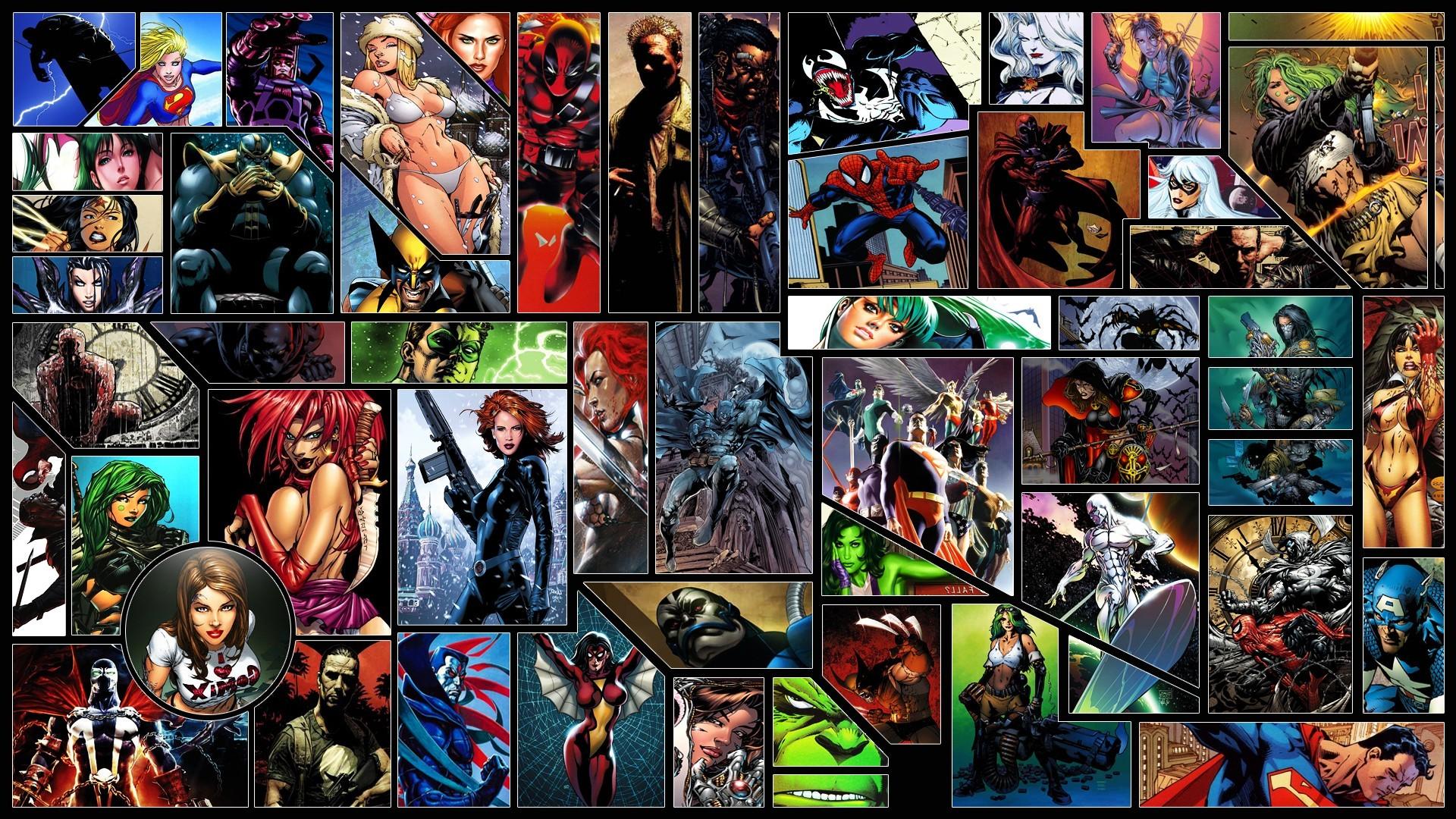 Black Widow, Spider Man, Deadpool, Silver Surfer, Hulk, Superman, Green  Lantern, Wolverine, Batman, Captain America, Supergirl, Wonder Woman, …