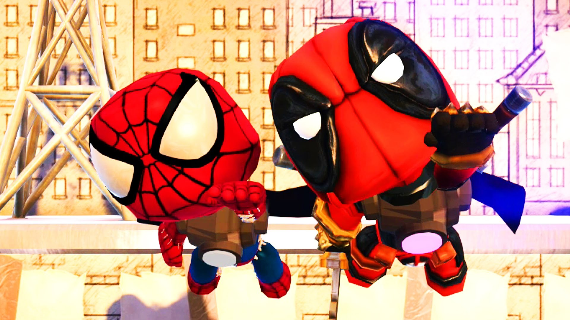 LittleBigPlanet 3 – The Picture Walls with Spiderman and Deadpool –  Superhero Fun! – YouTube