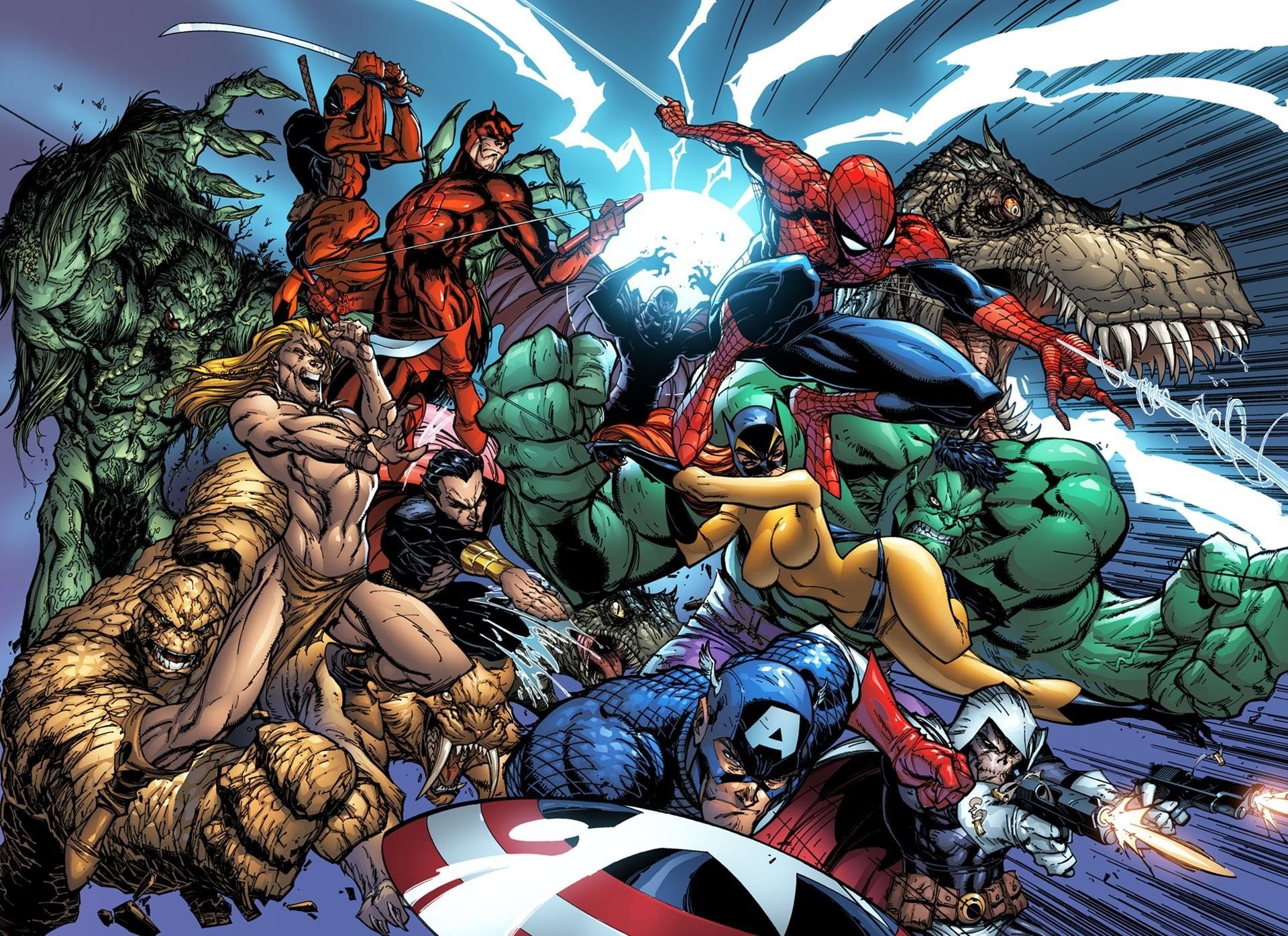 spider-man peter parker marvel comics captain america steven rogers hulk  bruce banner deadpool wade