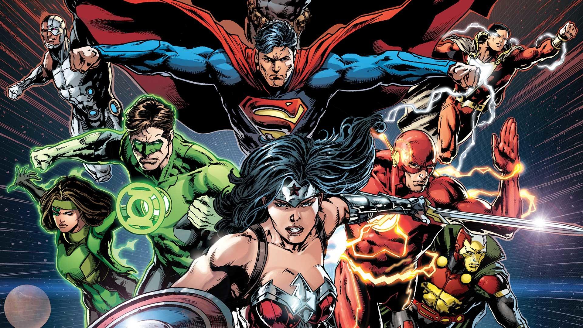Comics – Justice League Wonder Woman Superman Green Lantern Cyborg (DC  Comics) Flash Wallpaper
