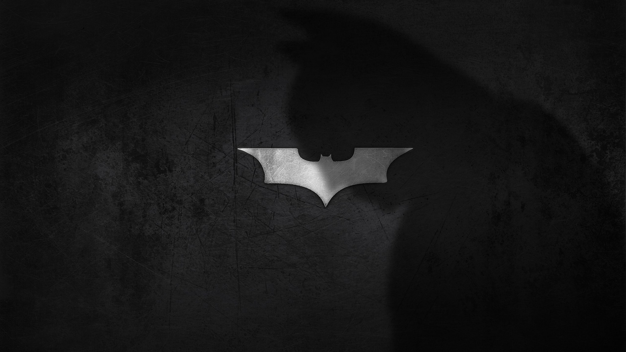 Preview wallpaper shadow, logo, batman, dark knight 2048×1152
