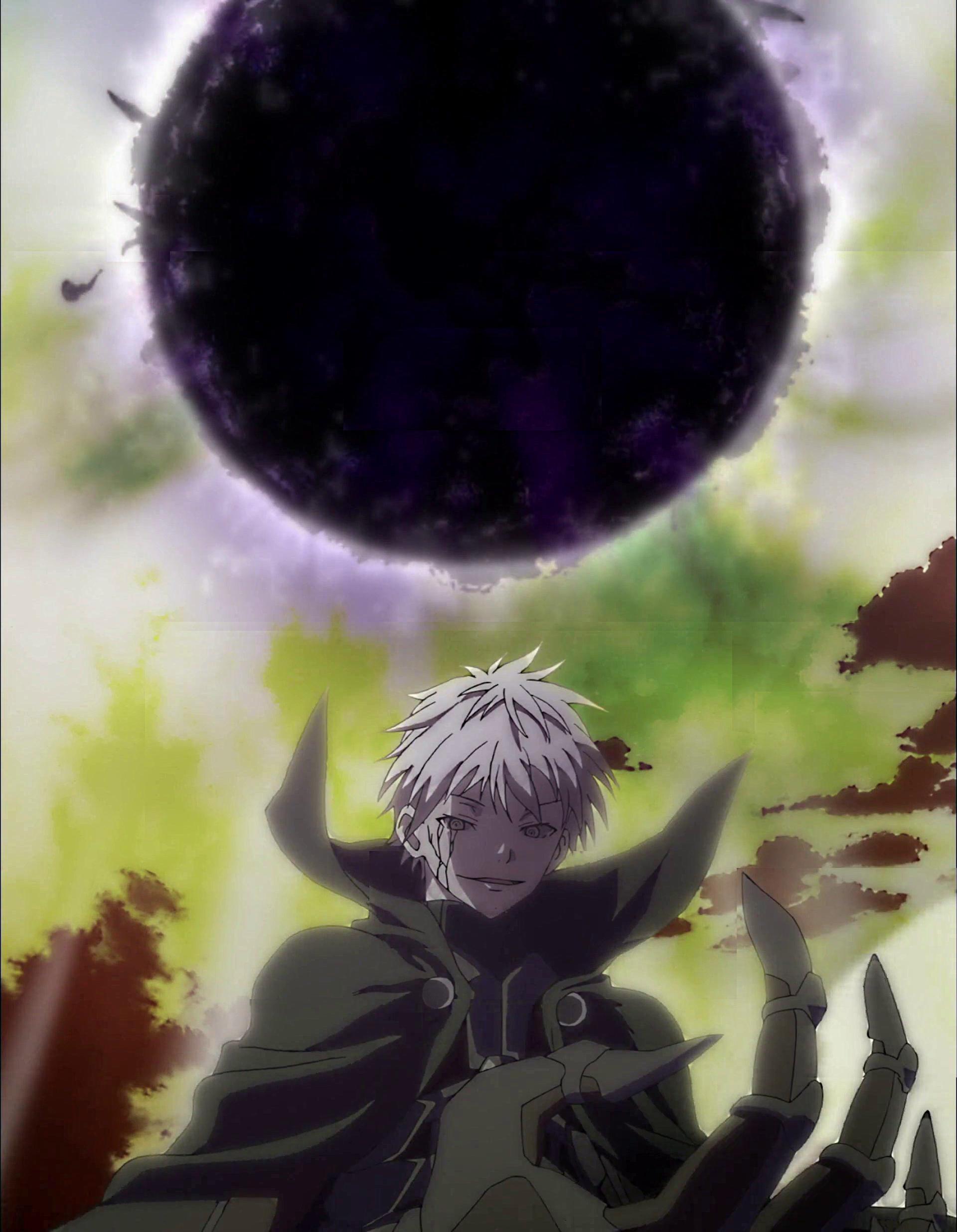Trinity Seven wallpaper: Arata's black sun from intro edit w/ 2 sharpened  versions : anime