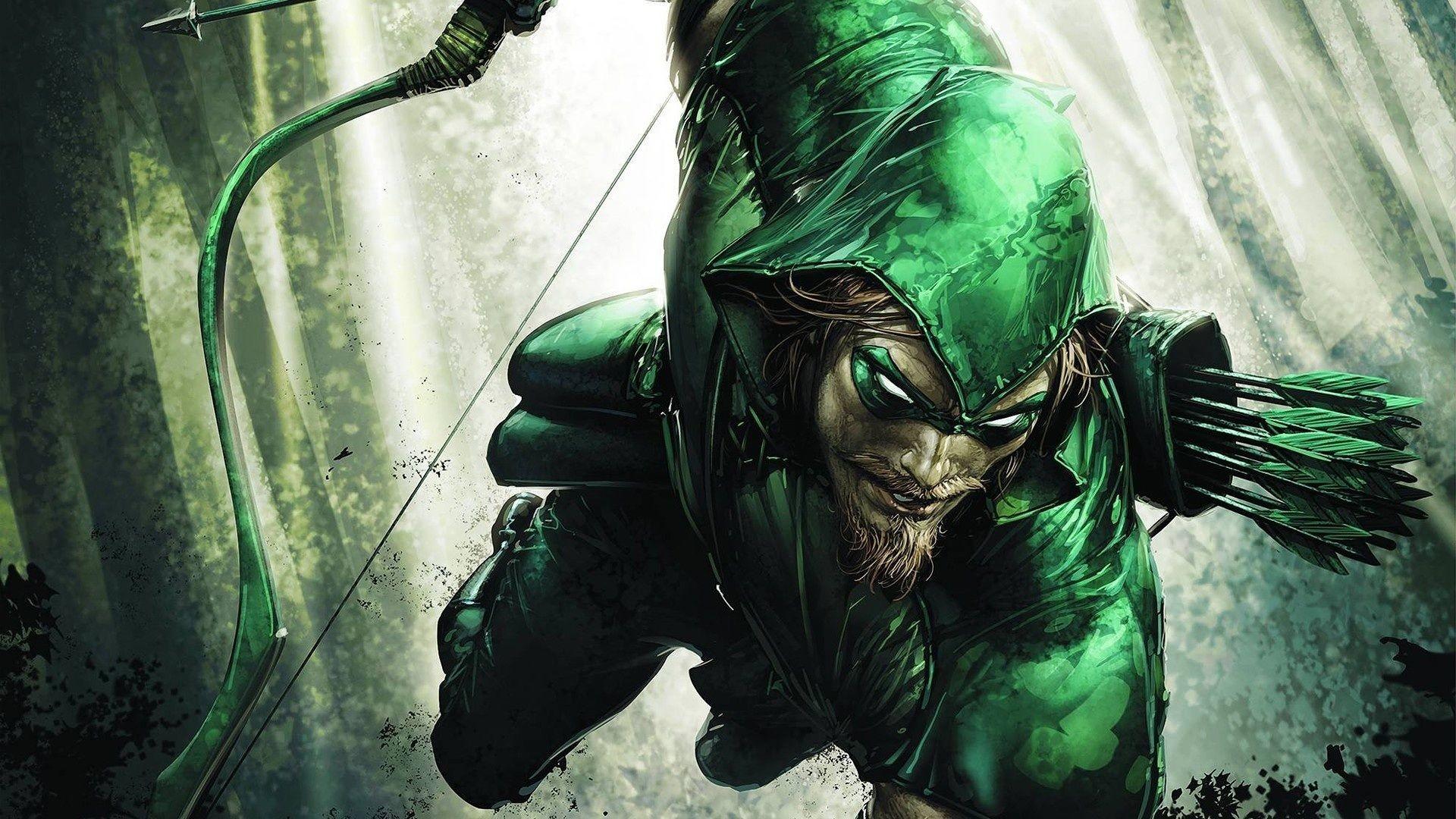 The Green Arrow Comic Artwork Cover Wallpaper