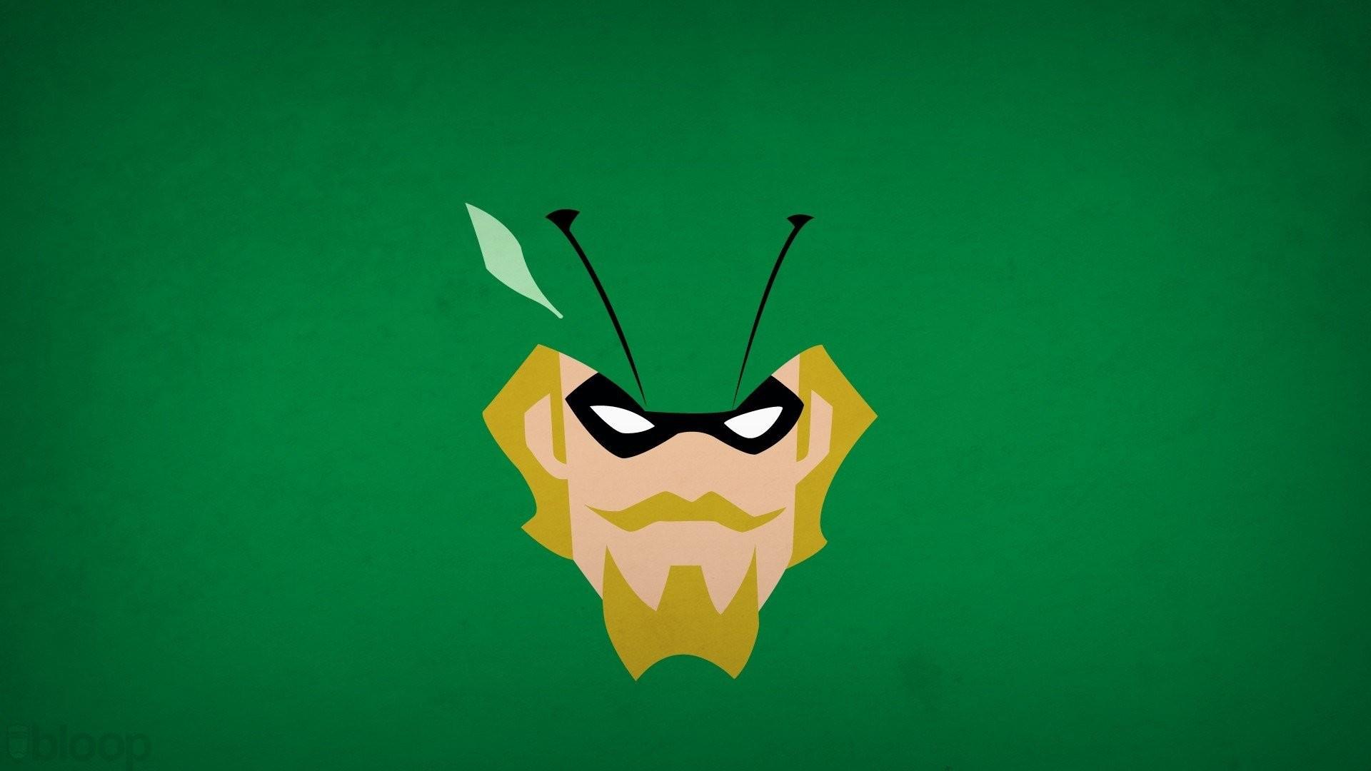 DC Comics Minimalism Simple Background Superheroes Green Arrow