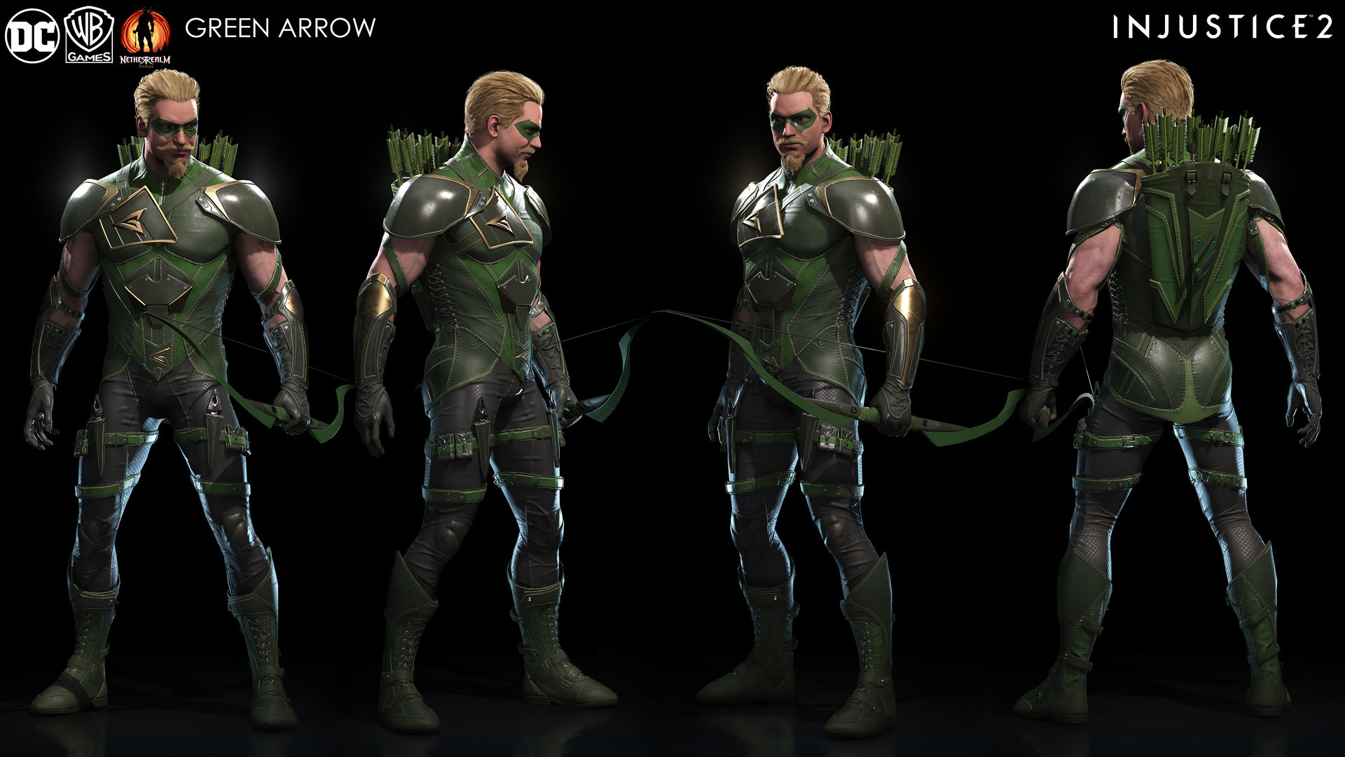 Injustice 2- Green Arrow Game asset